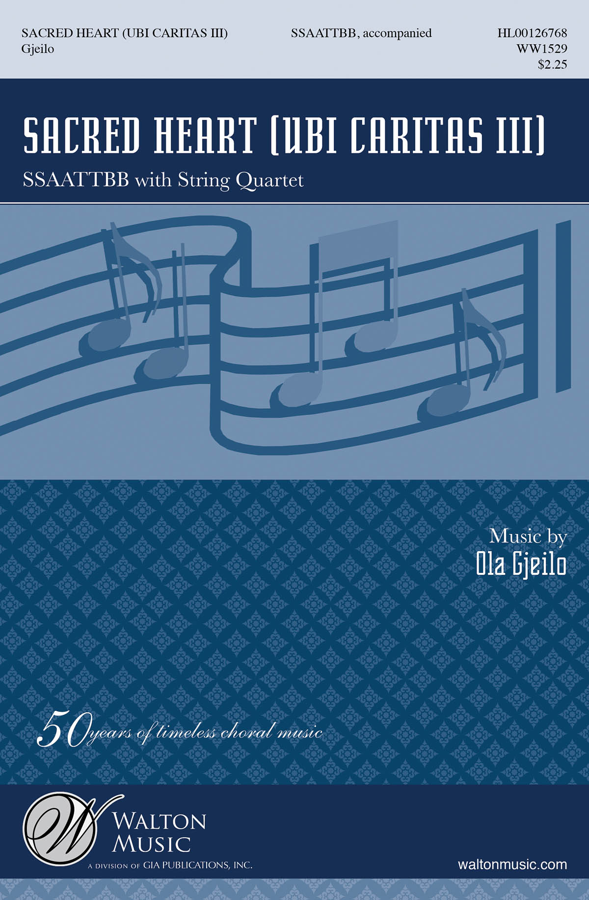 Ola Gjeilo: Ubi Caritas III (Sacred Heart). Sheet Music for SATB  String Quartet