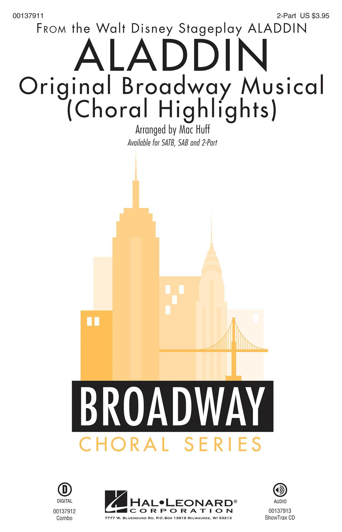 Alan Menken: Aladdin - Original Broadway Musical: Mixed Choir a Cappella: Vocal
