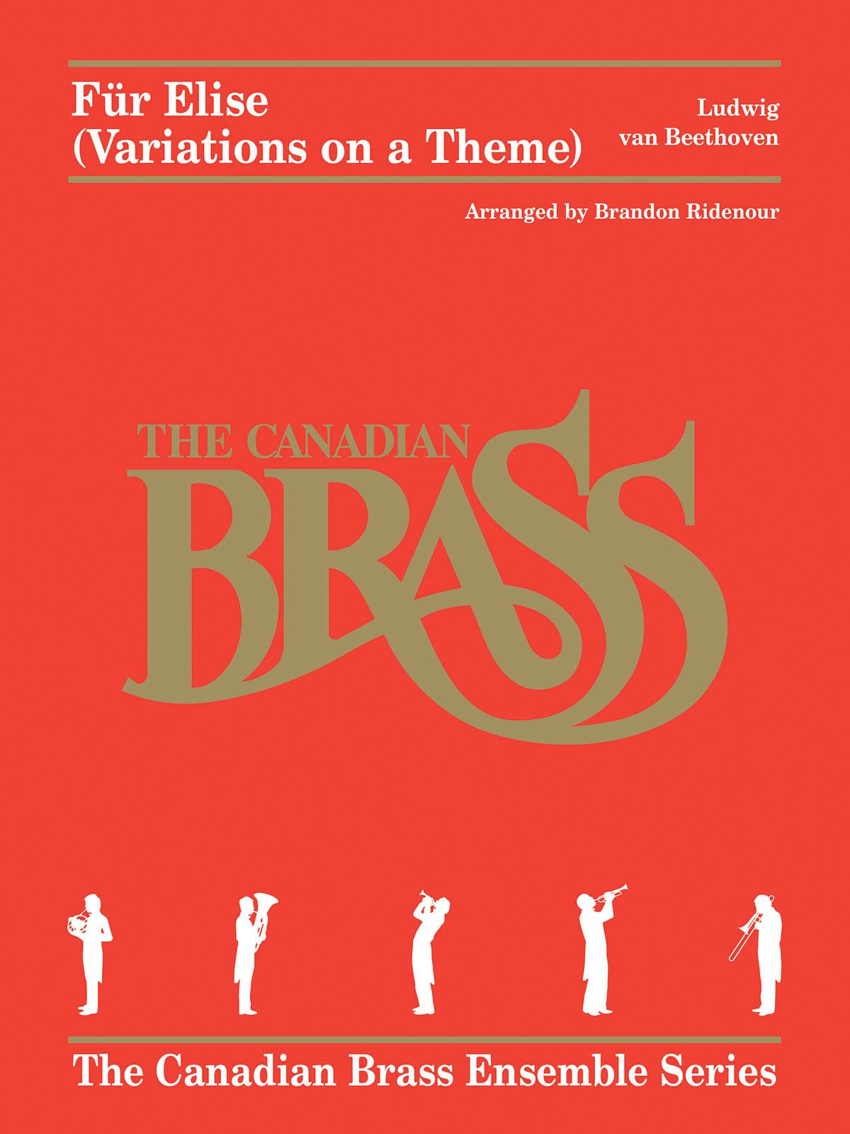 Ludwig van Beethoven: Für Elise (Variations on a Theme): Brass Ensemble: Score &