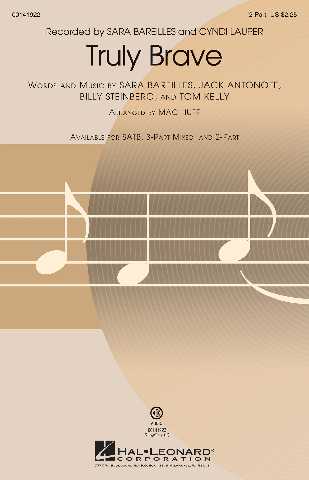 Billy Steinberg: Truly Brave: Mixed Choir a Cappella: Vocal Score