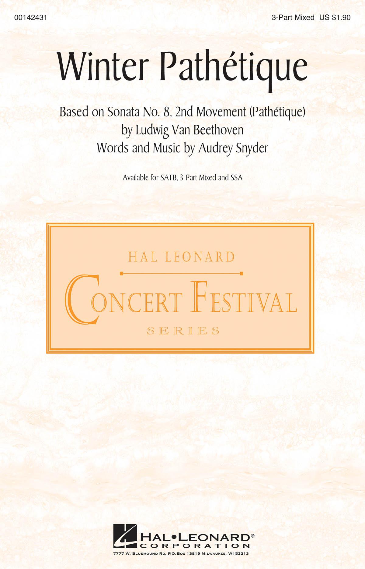 Audrey Snyder: Winter Path?tique: Mixed Choir a Cappella: Vocal Score