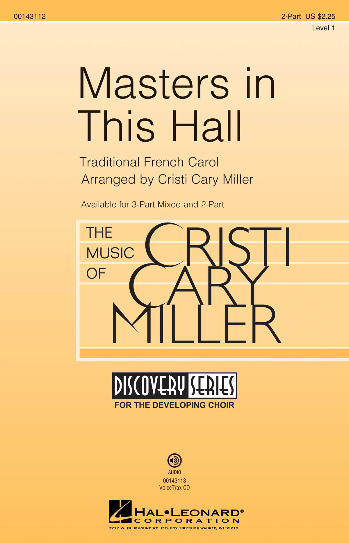 Masters in This Hall: Mixed Choir a Cappella: Vocal Score