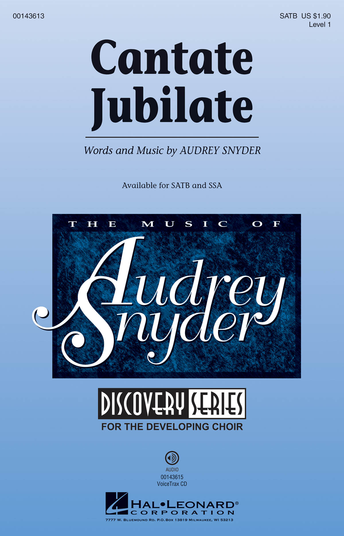 Audrey Snyder: Cantate Jubilate: Mixed Choir a Cappella: Vocal Score