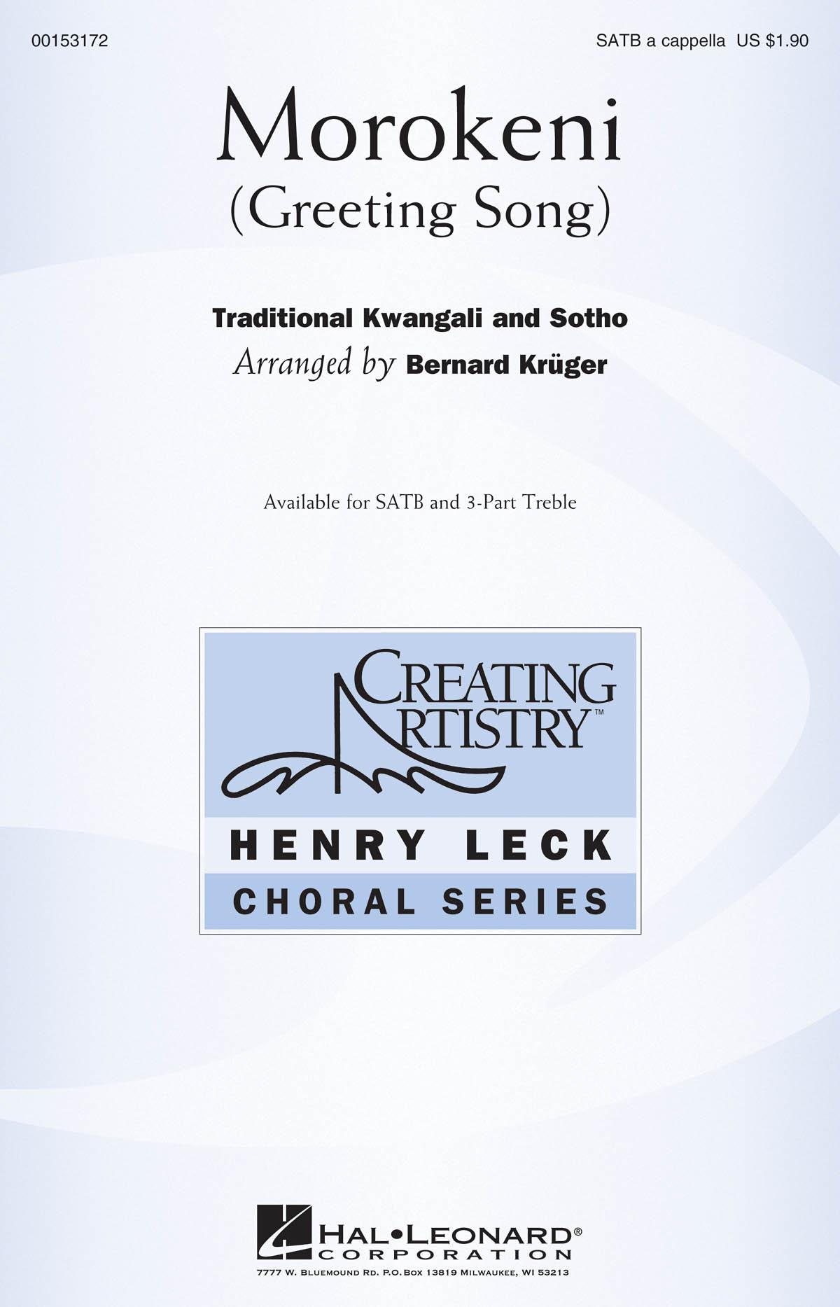 Morokeni: Mixed Choir a Cappella: Vocal Score