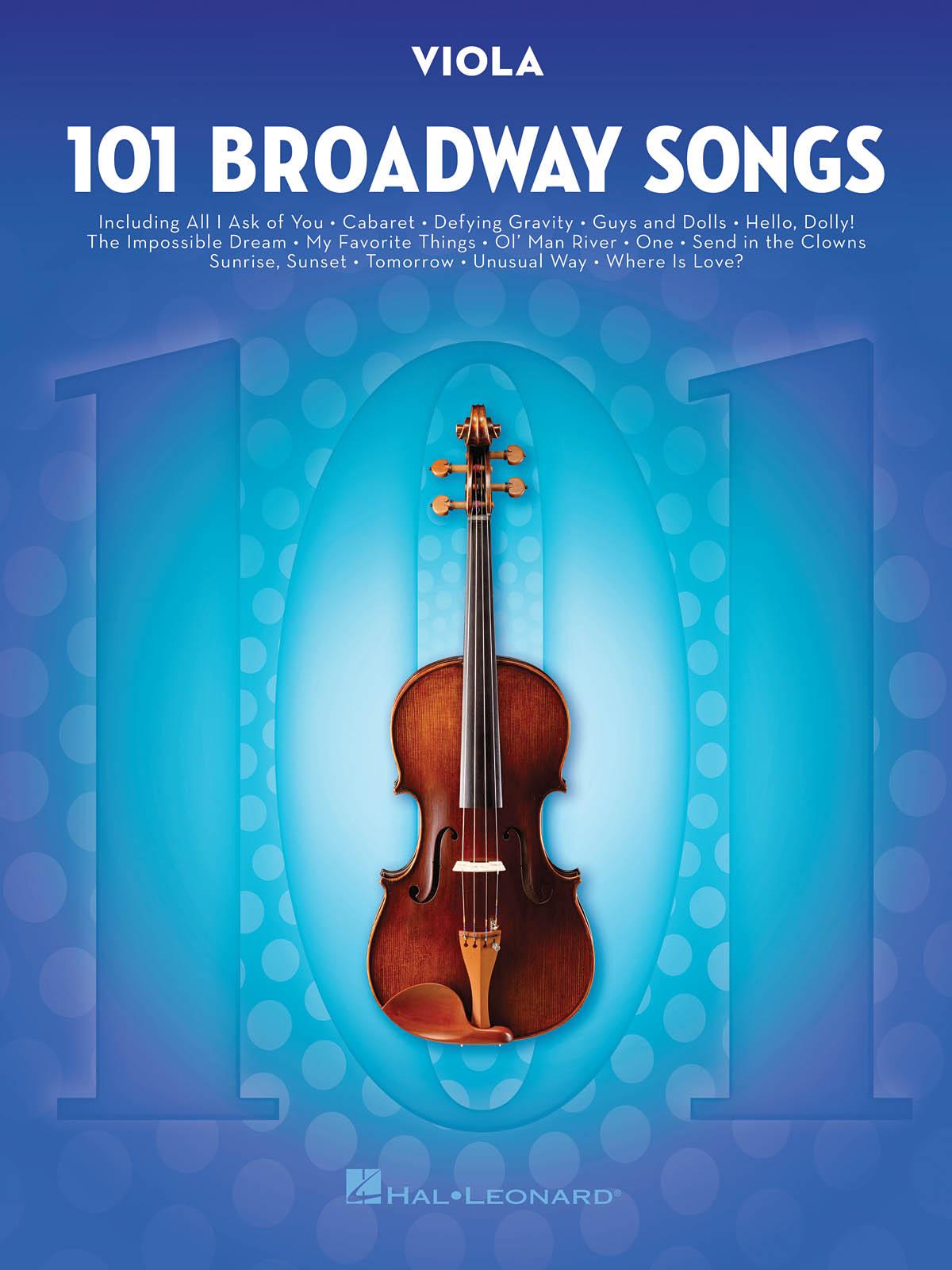 101 Broadway Songs for Viola: Viola Solo: Instrumental Album