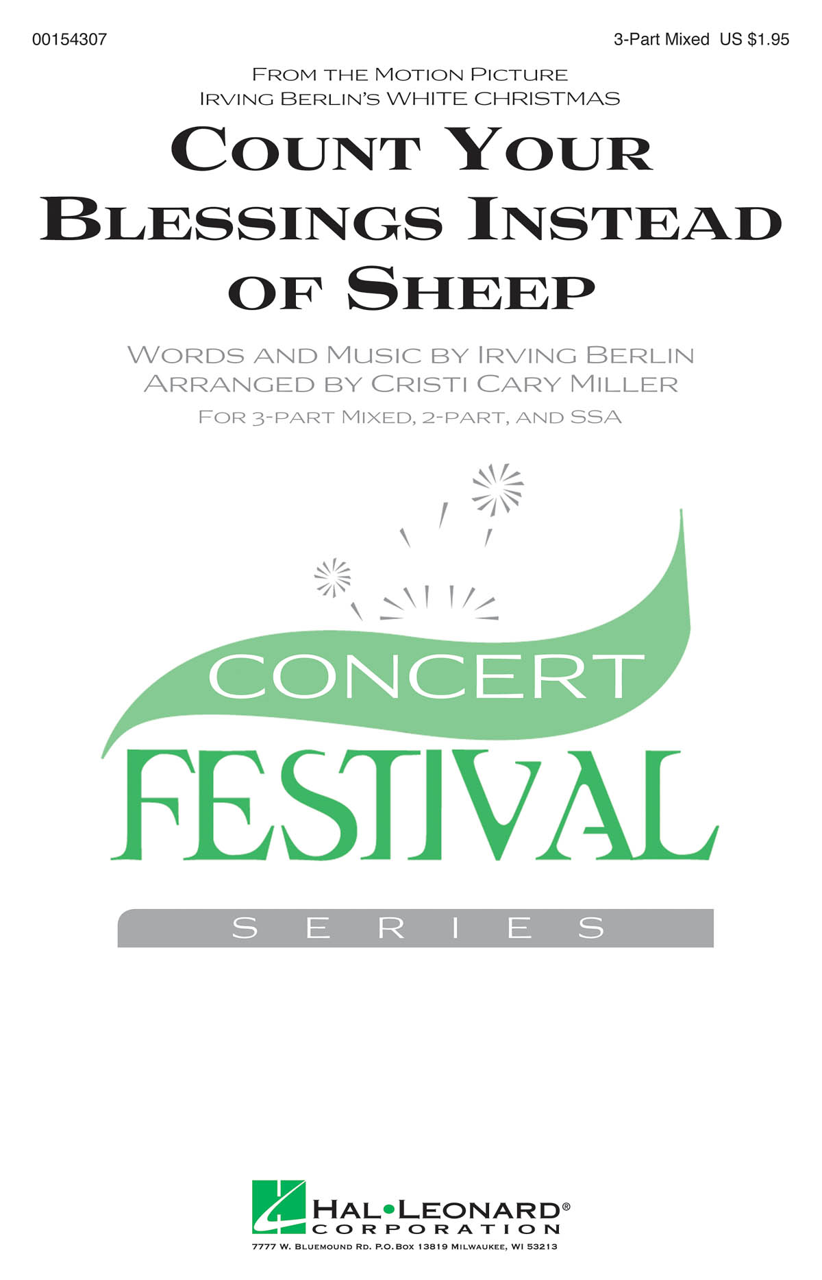 Count Your Blessings Instead of Sheep: Mixed Choir a Cappella: Vocal Score