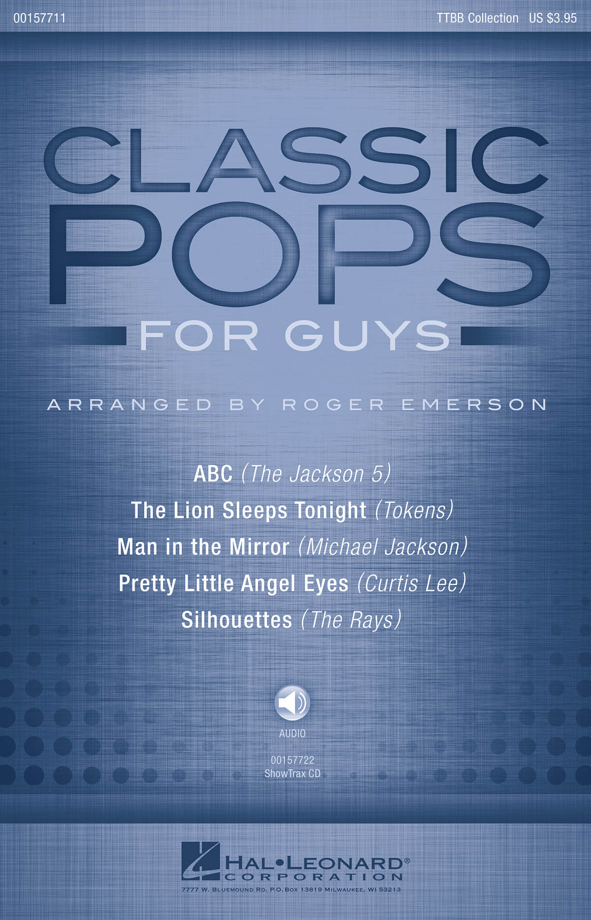Classic Pops for Guys: Lower Voices a Cappella: Vocal Score