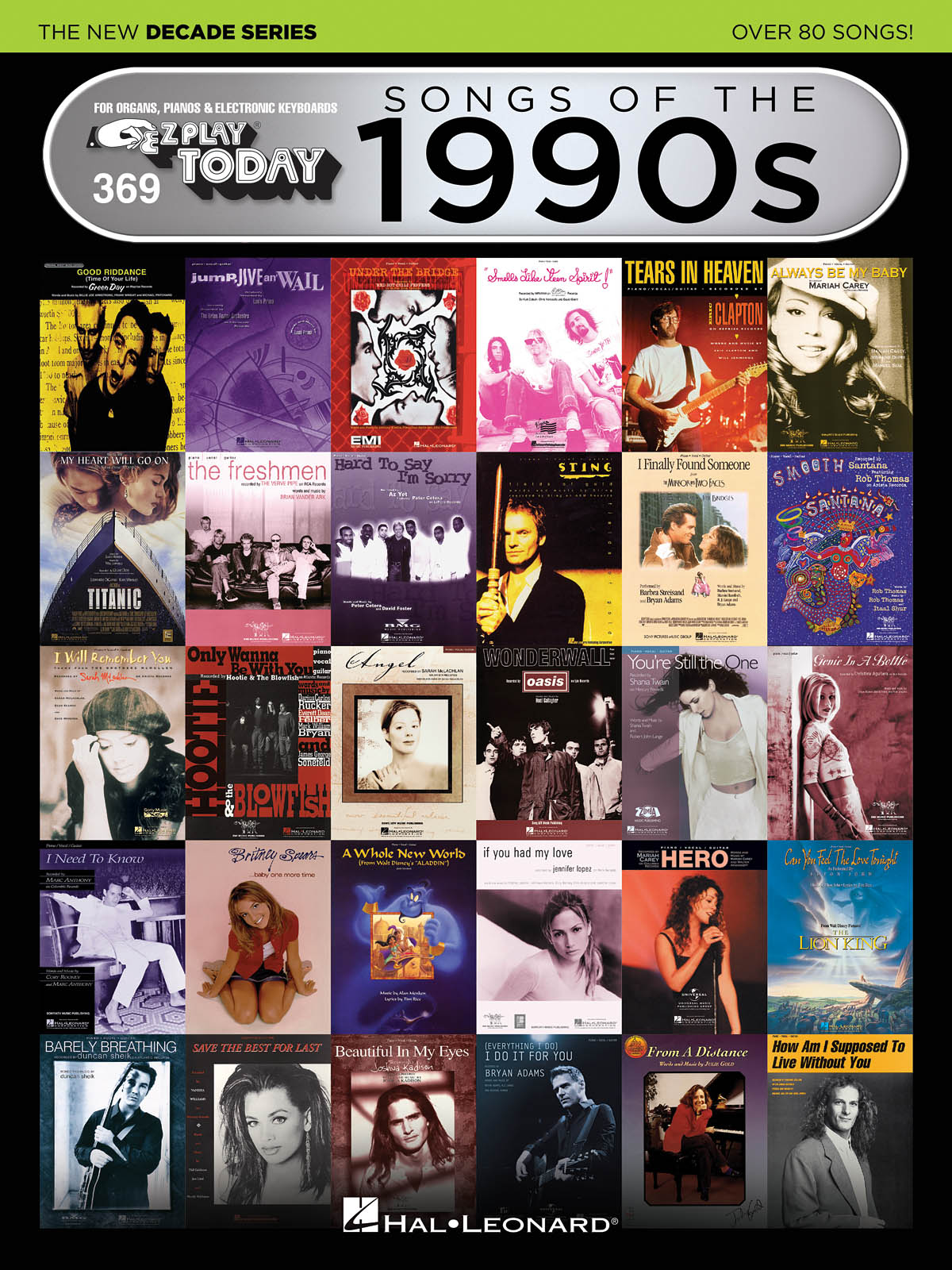 Songs of the 1990s - The New Decade Series: Piano  Vocal and Guitar:
