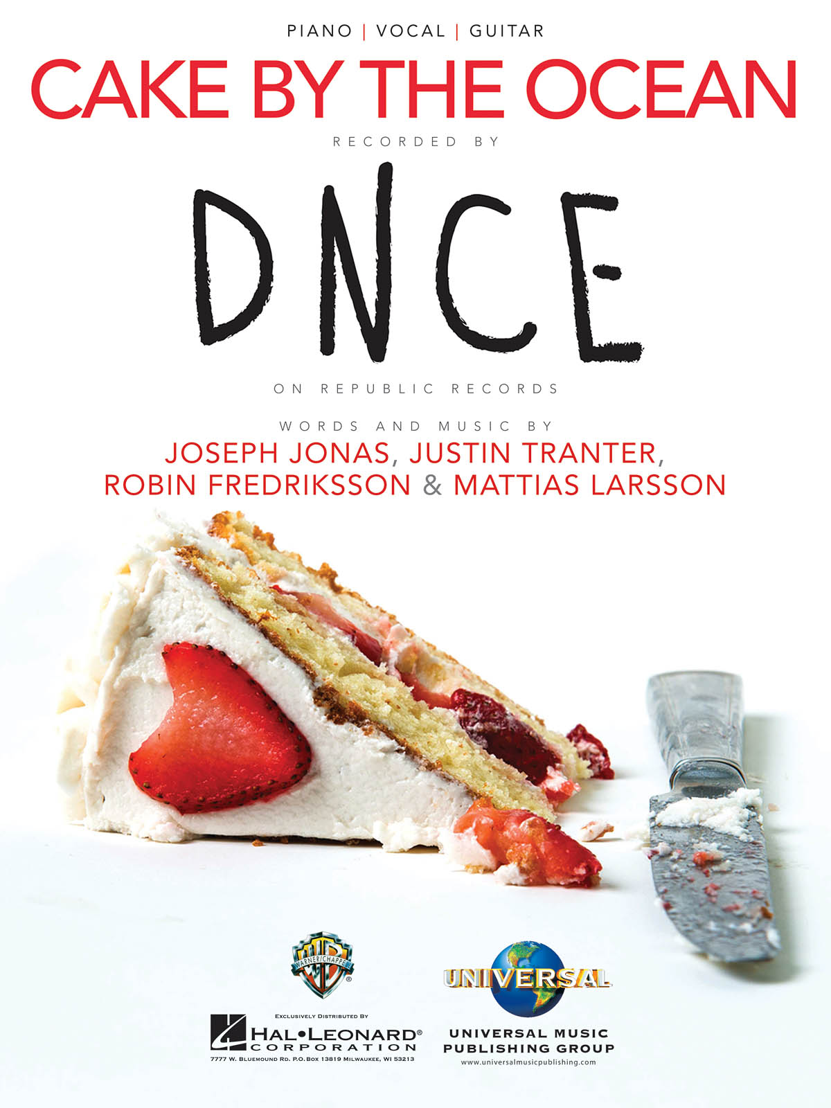 DNCE: Cake by the Ocean: Piano  Vocal and Guitar: Single Sheet