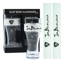 Joe Bonamassa 2-Pack Slap Band Pint Size Glassware: Kitchenware