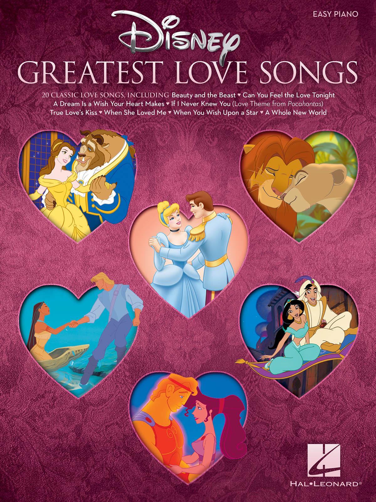Disney Greatest Love Songs: Easy Piano: Album Songbook