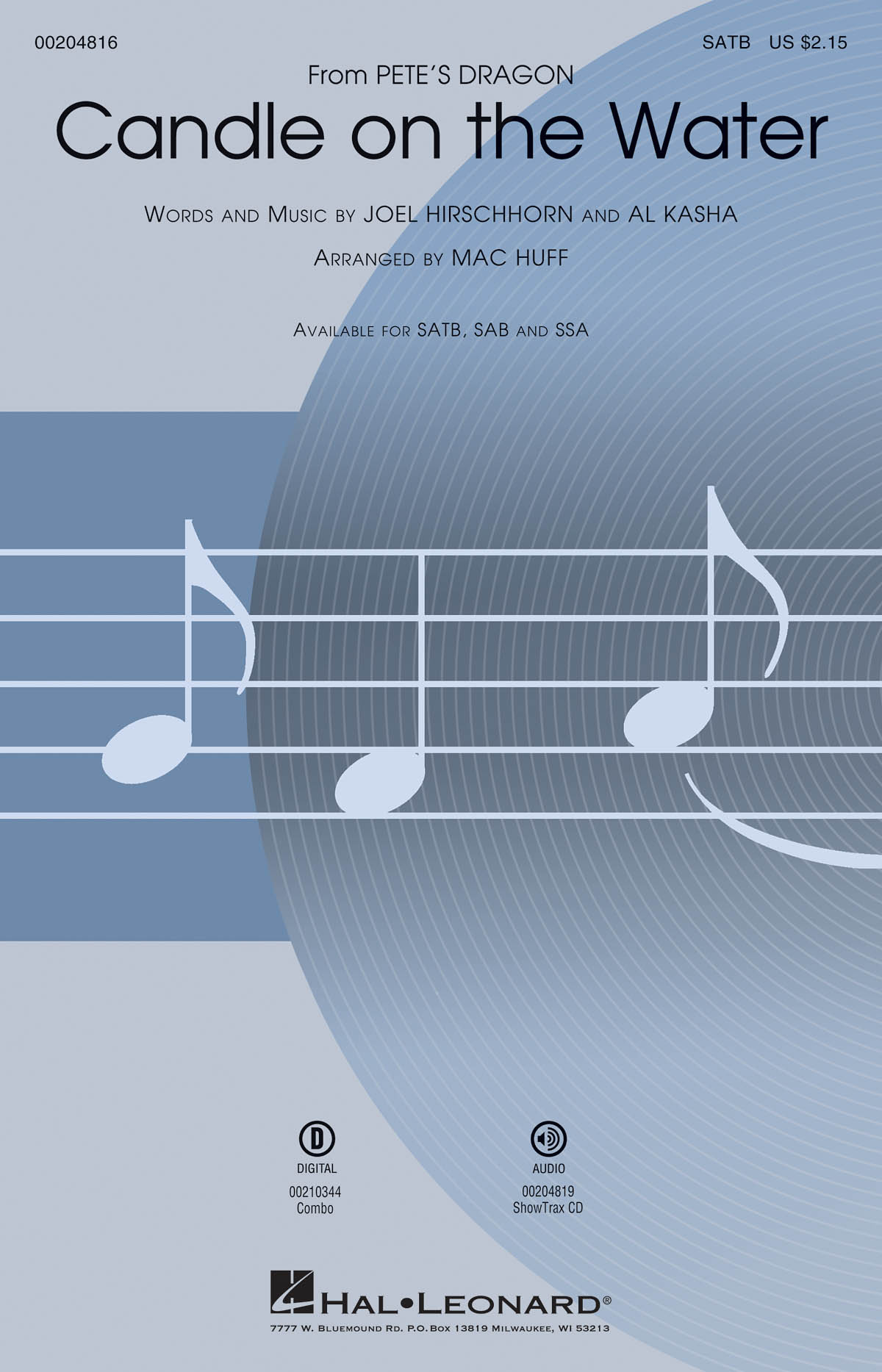 Candle on the Water: Mixed Choir a Cappella: Vocal Score