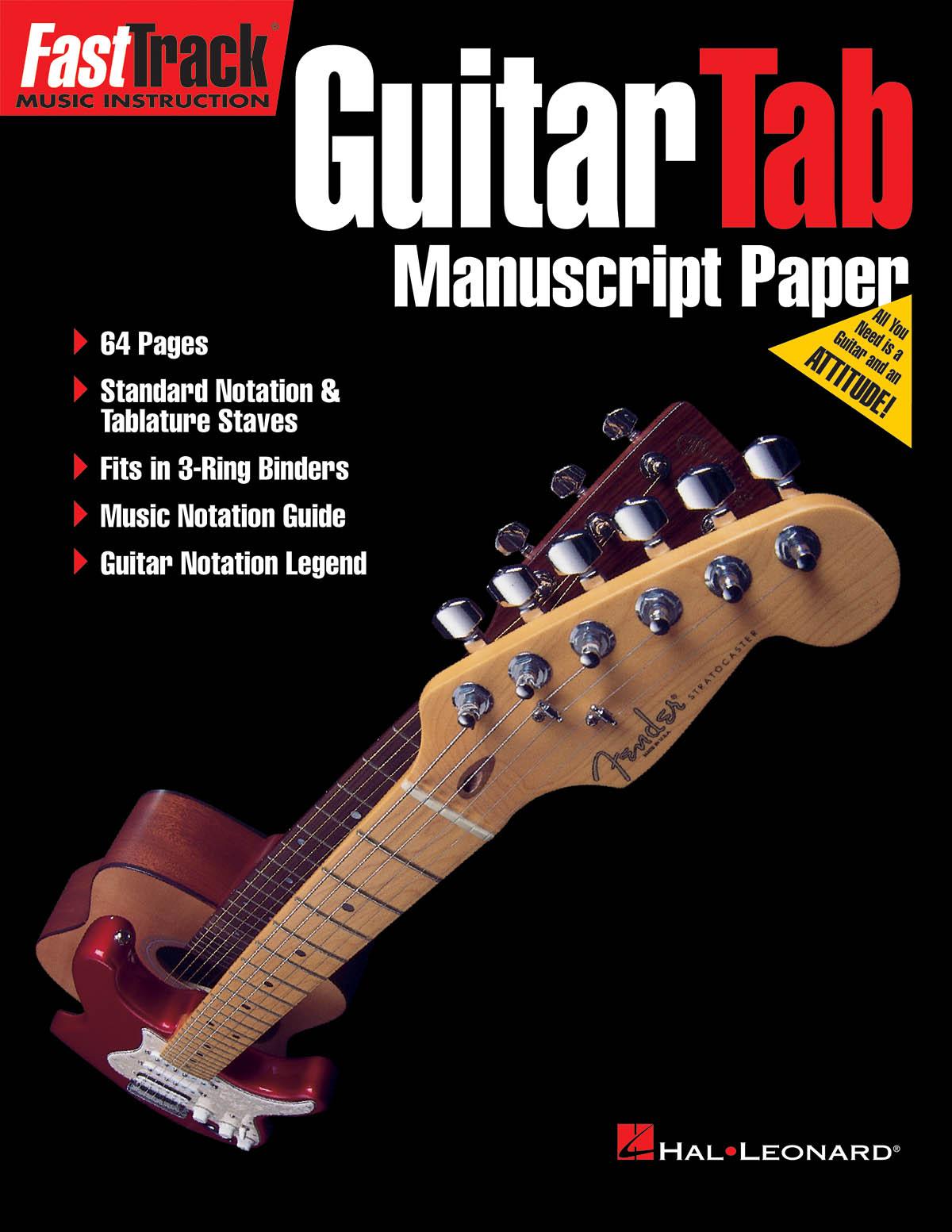 FastTrack - Guitar Tab Manuscript Paper: Manuscript Paper: Manuscript