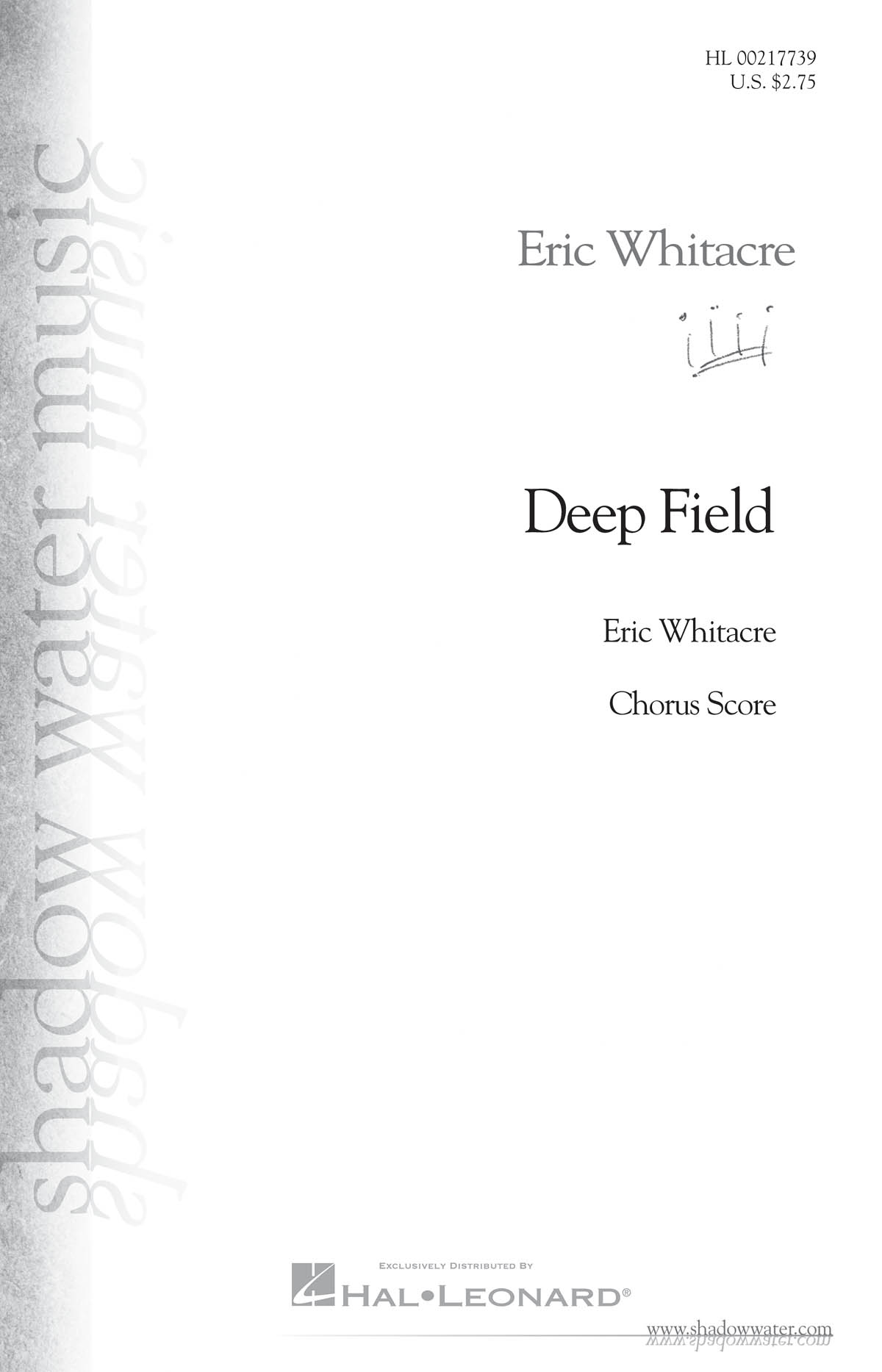 Eric Whitacre: Deep Field: Mixed Choir a Cappella: Vocal Score