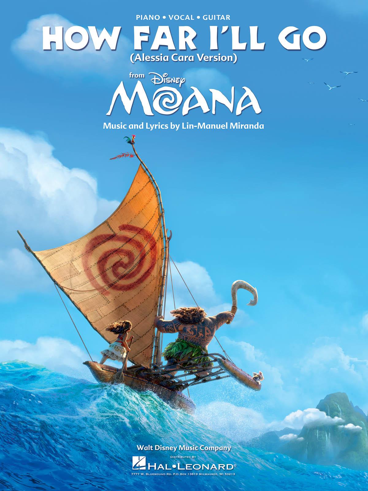 Alessia Cara: How Far I'll Go (from Moana): Piano  Vocal and Guitar: Single