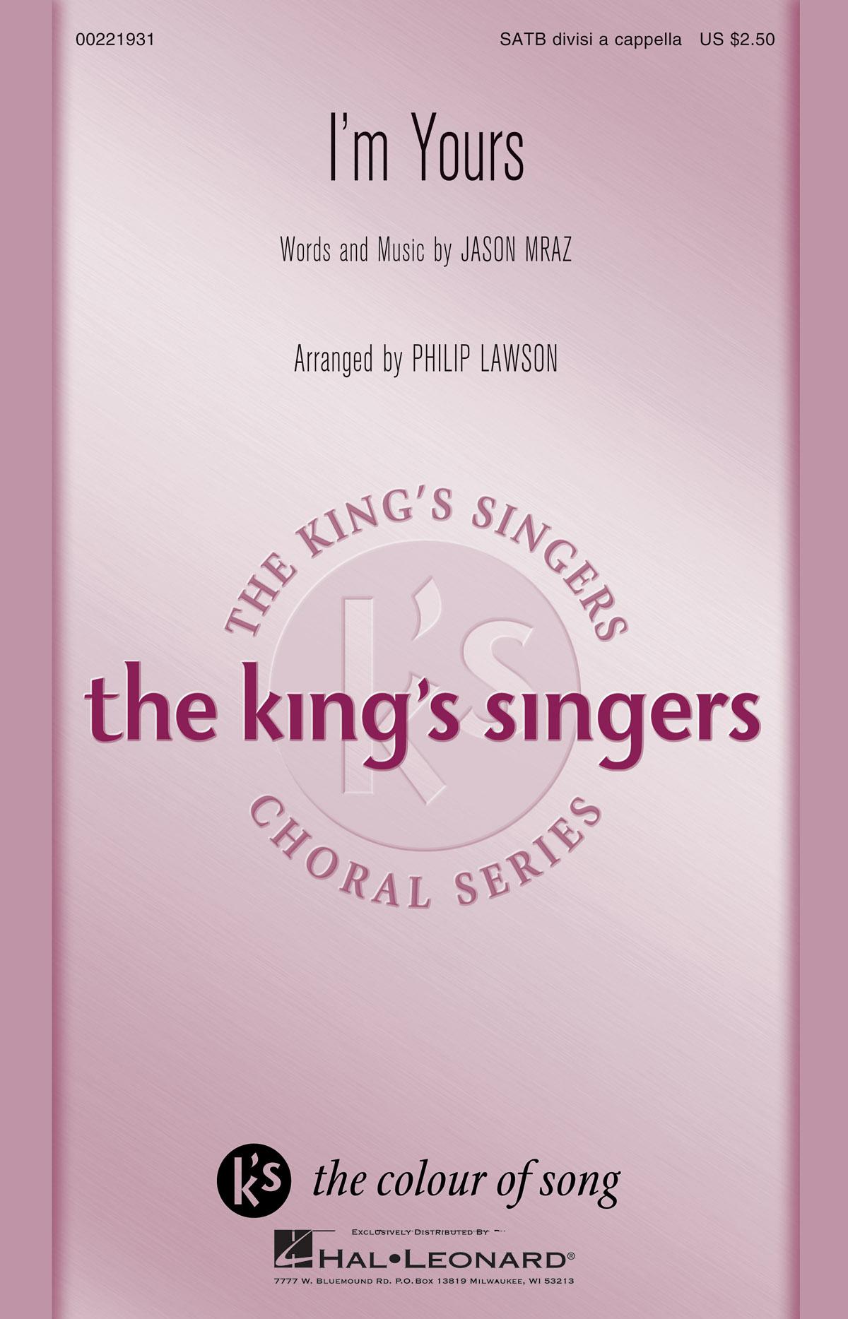I'm Yours: Mixed Choir a Cappella: Vocal Score