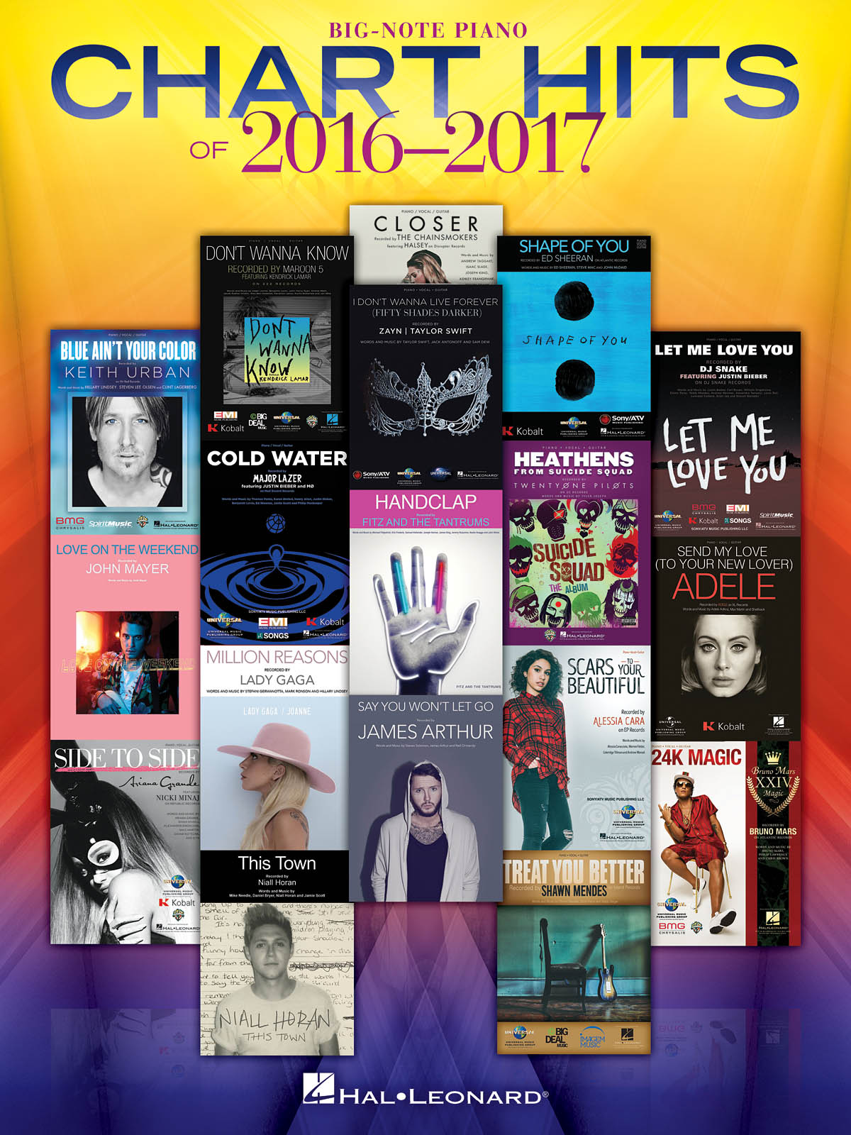 Chart Hits of 2016-2017: Piano Solo: Mixed Songbook