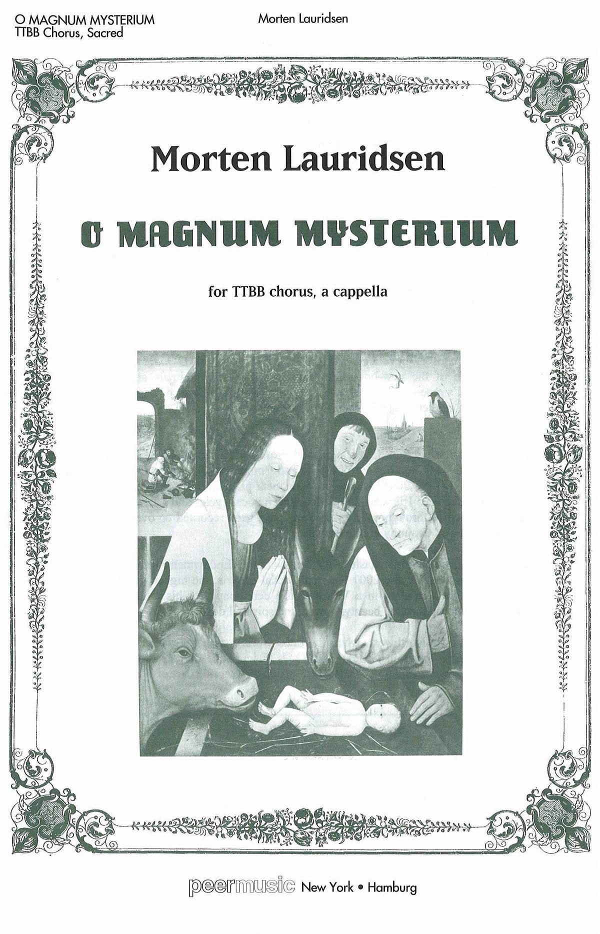 Morten Lauridsen: O Magnum Mysterium: Mixed Choir: Vocal Score