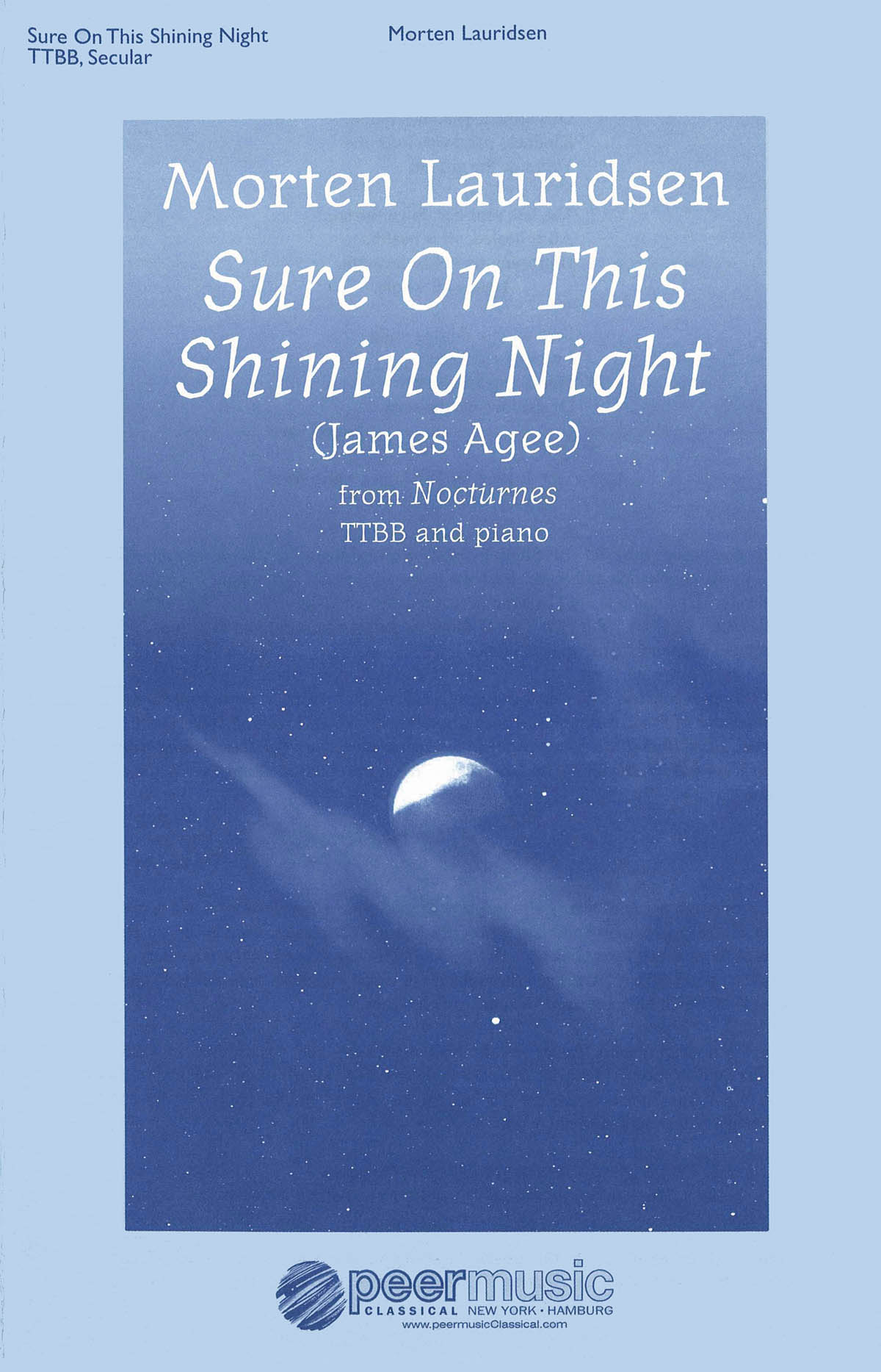 Morten Lauridsen: Sure On This Shining Night: Lower Voices a Cappella: Vocal