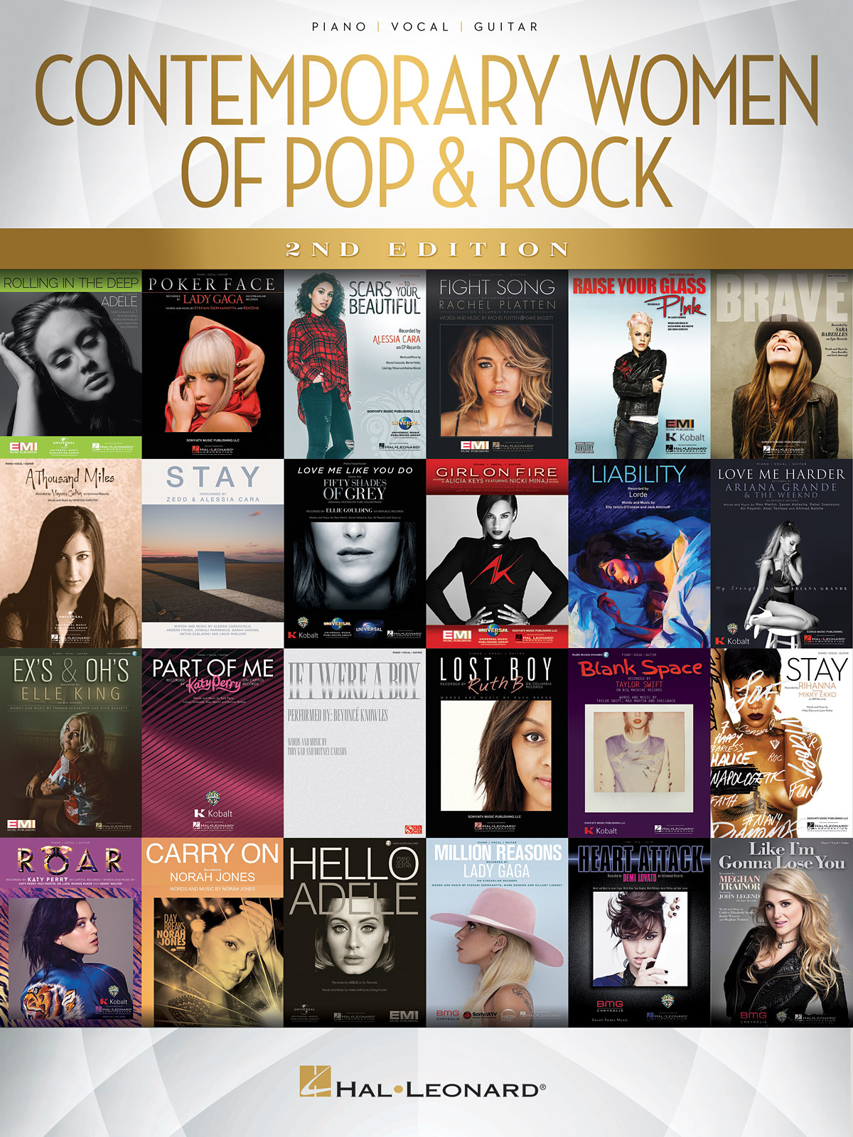 Contemporary Women of Pop & Rock - 2nd Edition: Piano  Vocal and Guitar: Mixed