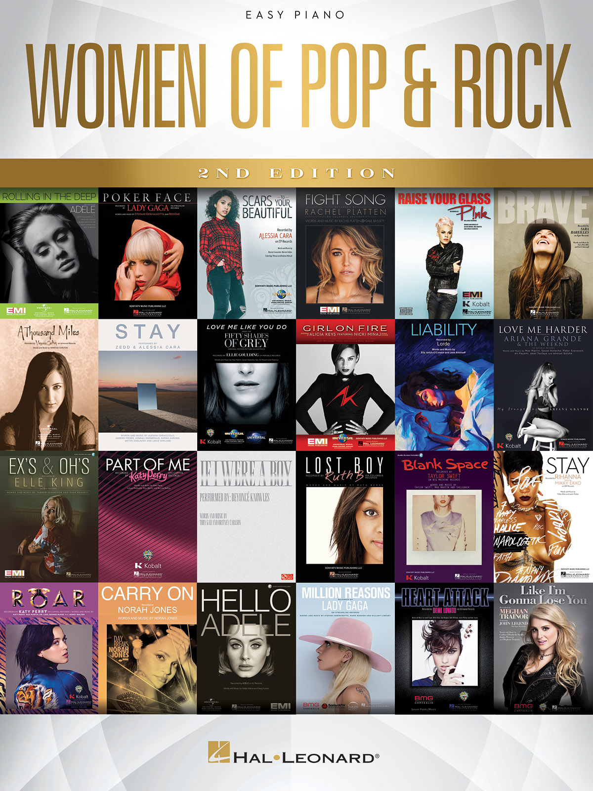 Women of Pop & Rock - 2nd Edition: Easy Piano: Mixed Songbook