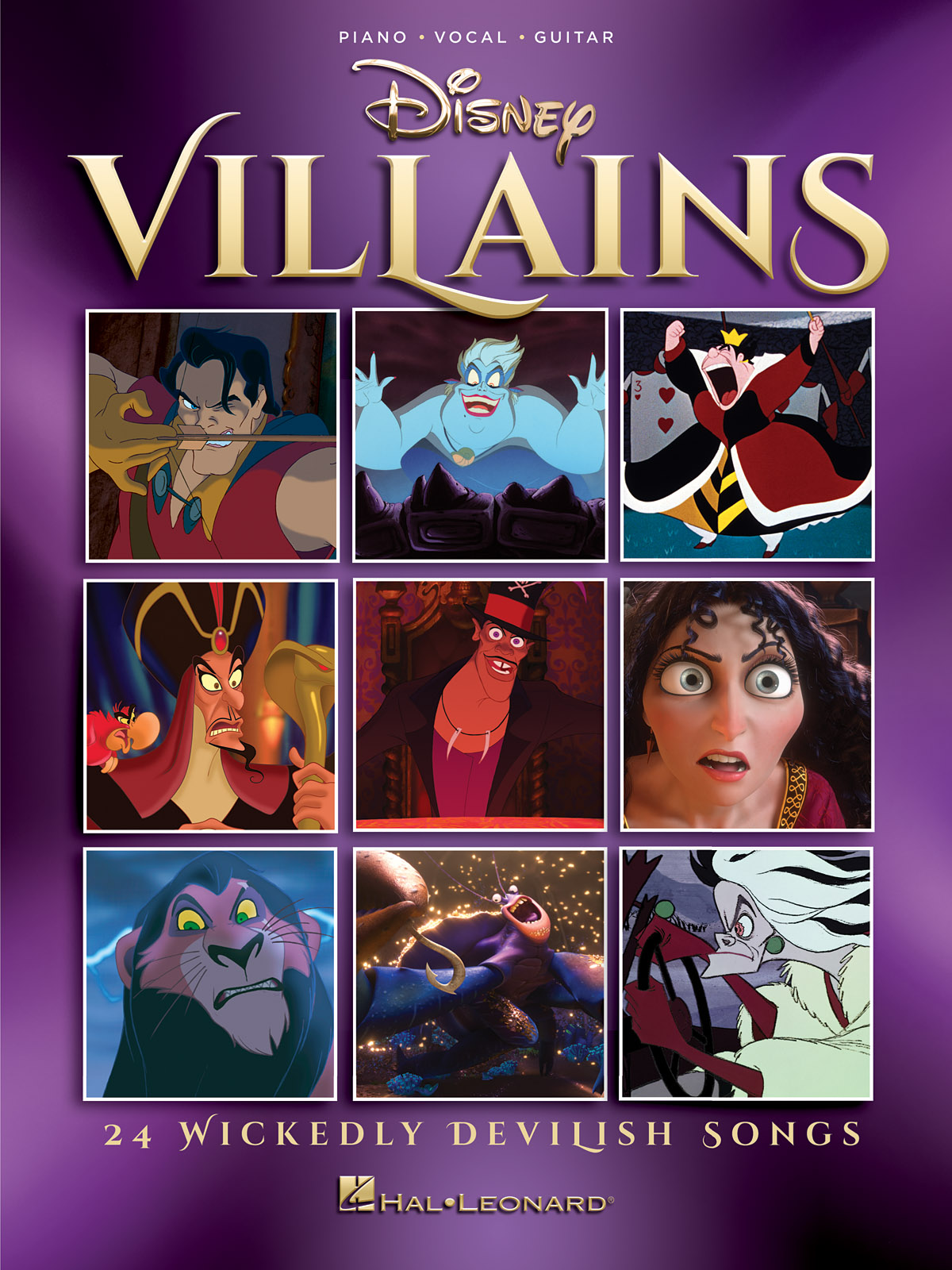 Disney Villains: Piano  Vocal and Guitar: Mixed Songbook