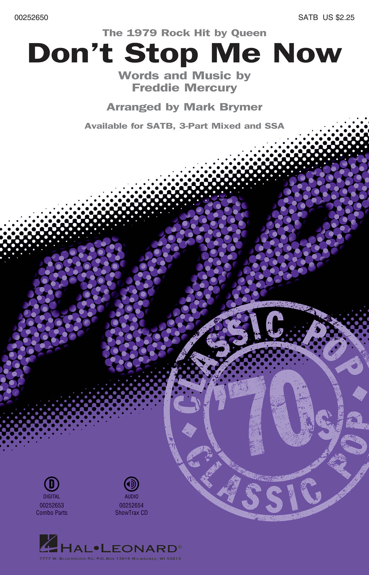 Freddie Mercury: Don't Stop Me Now: Mixed Choir a Cappella: Vocal Score