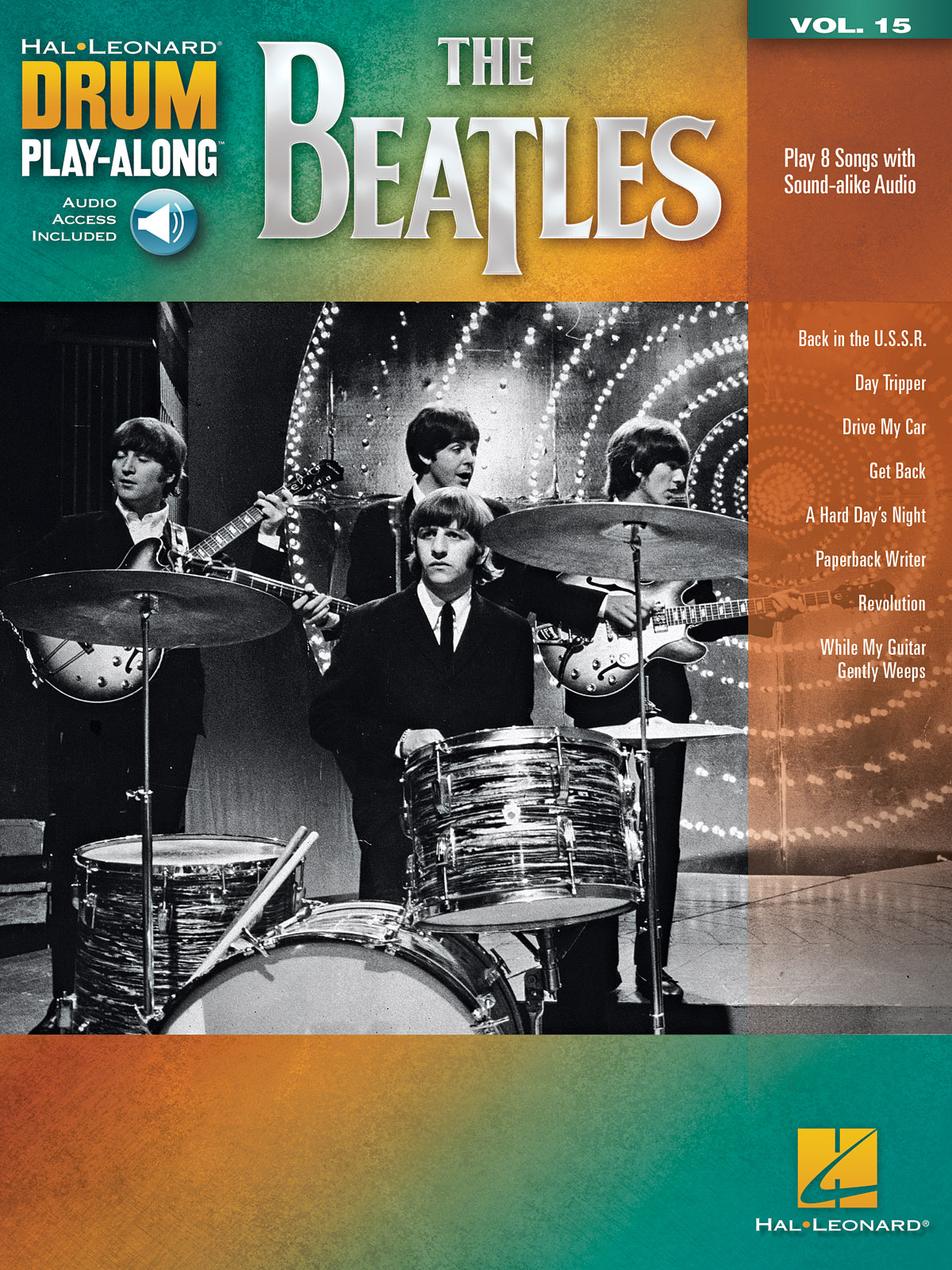 Drum Play-Along Volume 15: The Beatles (Hal Leonard Drum Play-Along)