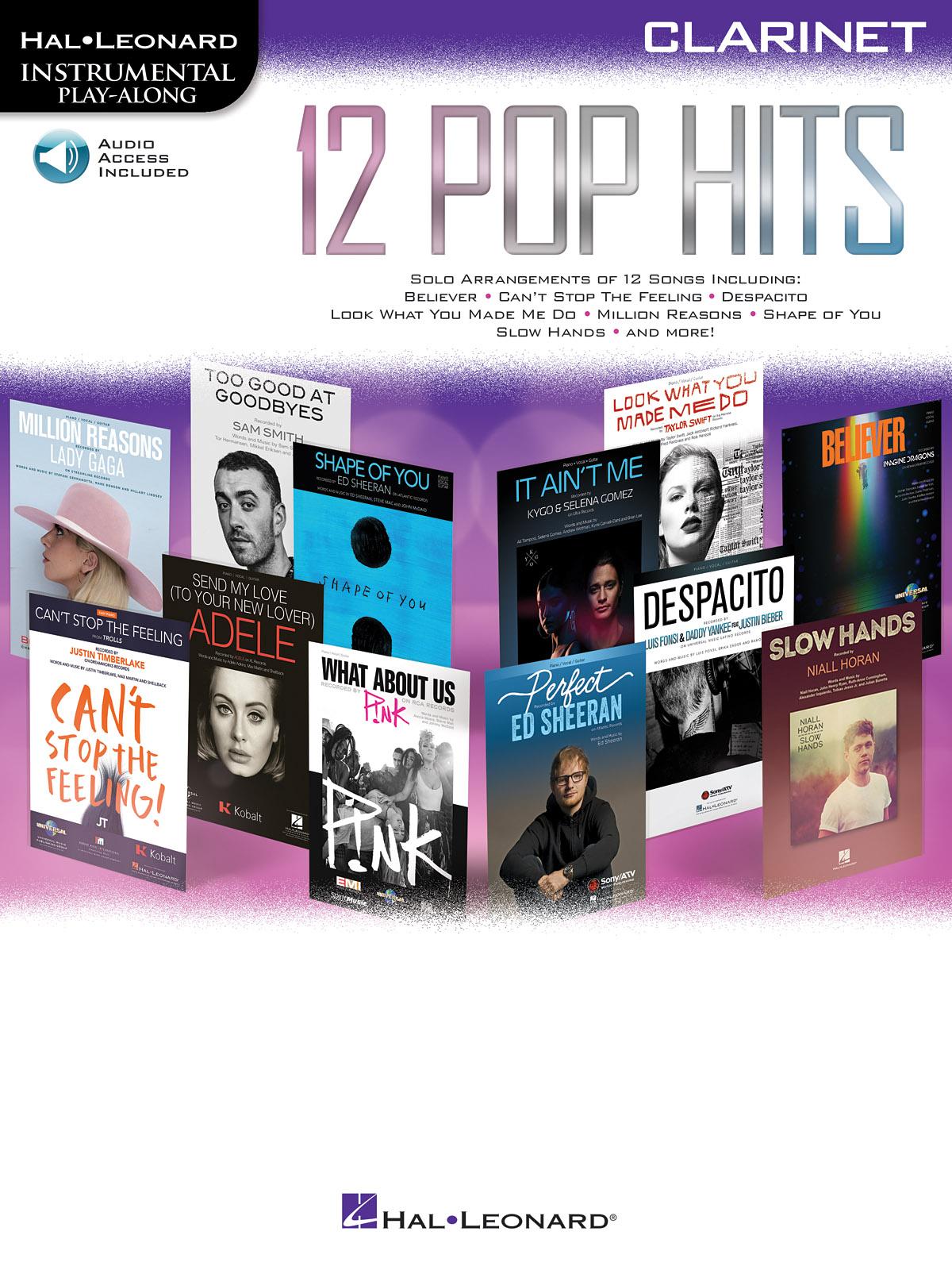 12 Pop Hits - Clarinet: Clarinet Solo: Instrumental Album