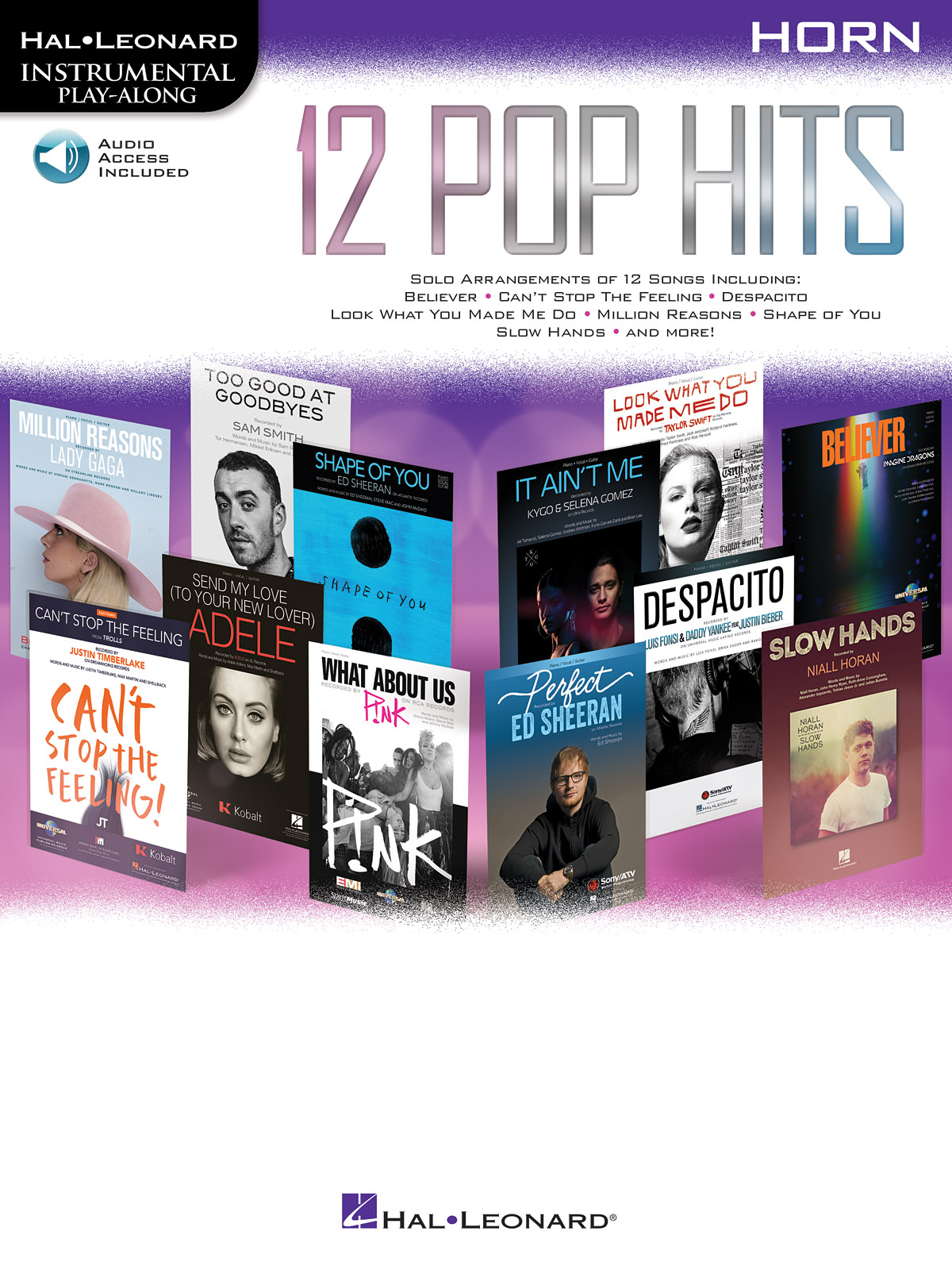 12 Pop Hits - Horn: French Horn Solo: Instrumental Album