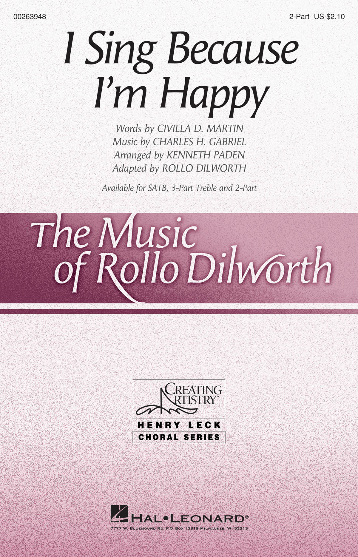 I Sing Because I'm Happy: Mixed Choir and Piano/Organ: Vocal Score