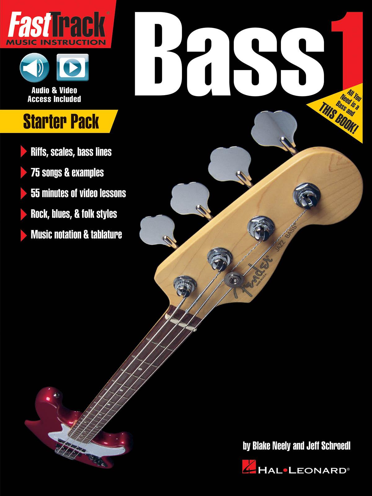 Blake Neely Jeff Schroedl: FastTrack Bass Method - Starter Pack: Bass Guitar