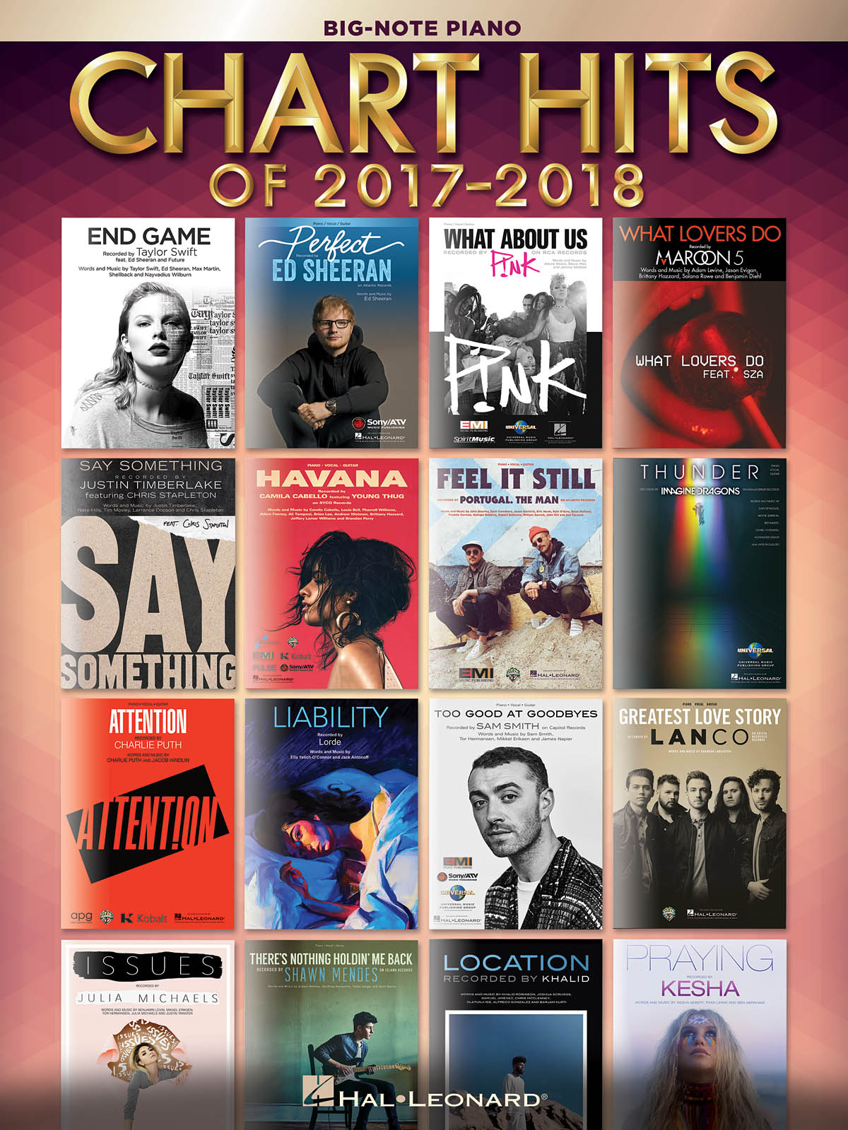 Chart Hits of 2017-2018: Piano: Instrumental Album