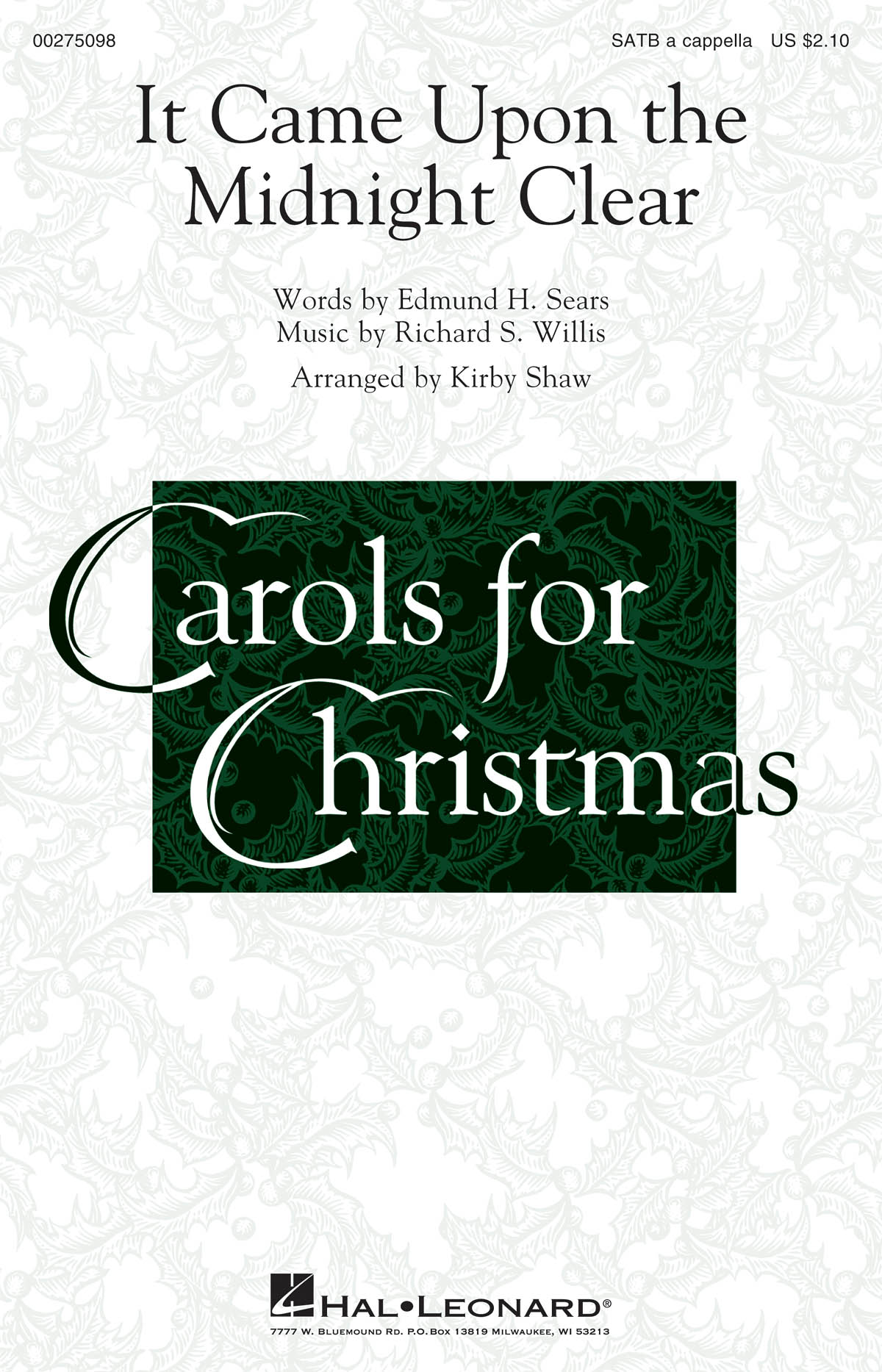 It Came Upon The Midnight Clear: Mixed Choir a Cappella: Vocal Score