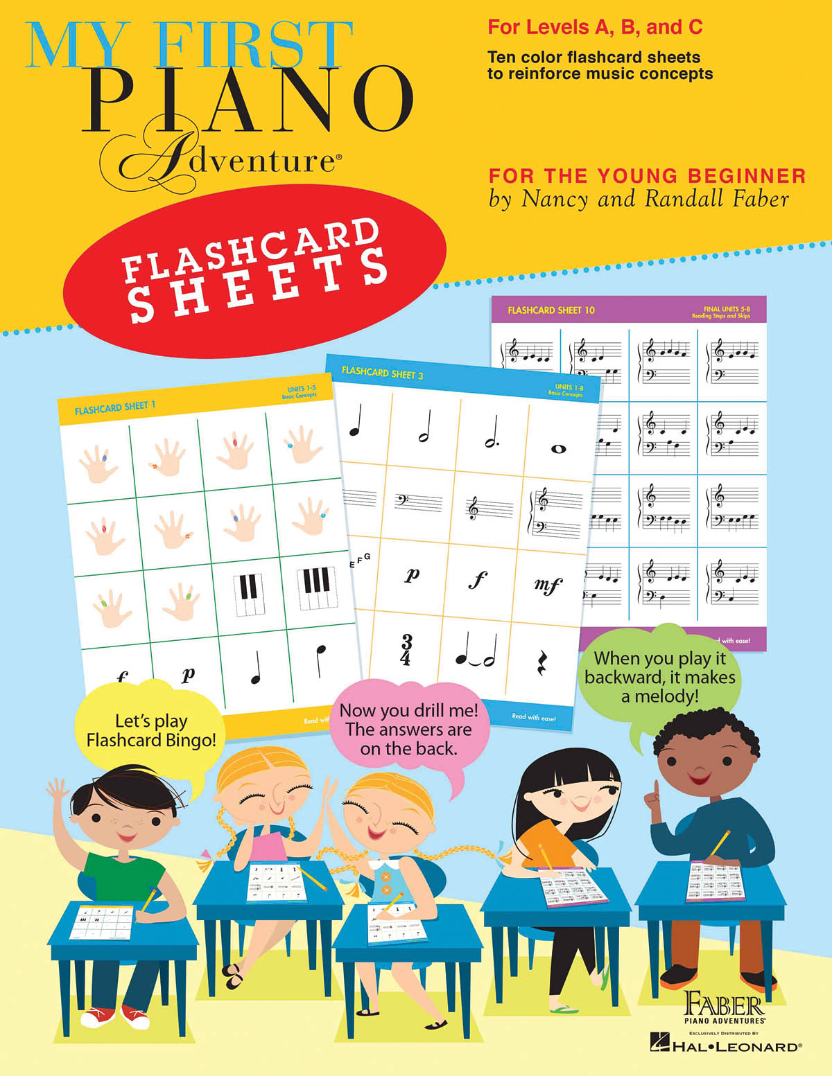 Nancy Faber Randall Faber: My First Piano Adventure - Flashcard Sheets: