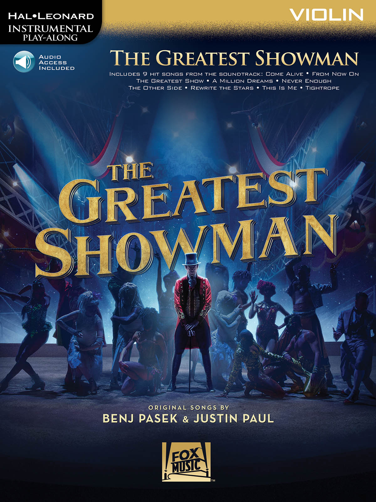 Instrumental Play-Along: The Greatest Showman - Violin (Book/Online Audio) (Hal Leonard Instrumental Play-Along)