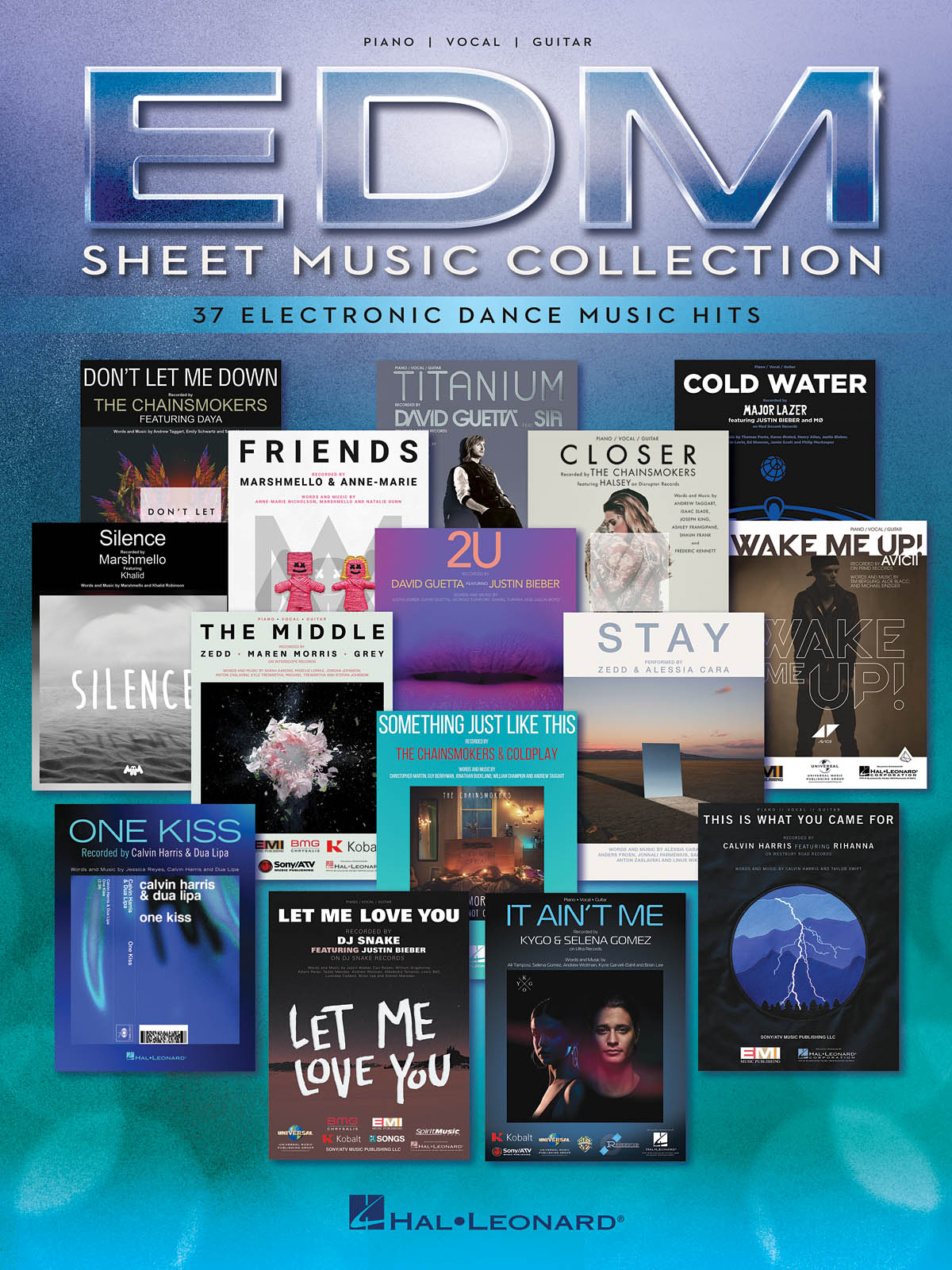 EDM Sheet Music Collection: Piano  Vocal  Guitar: Mixed Songbook