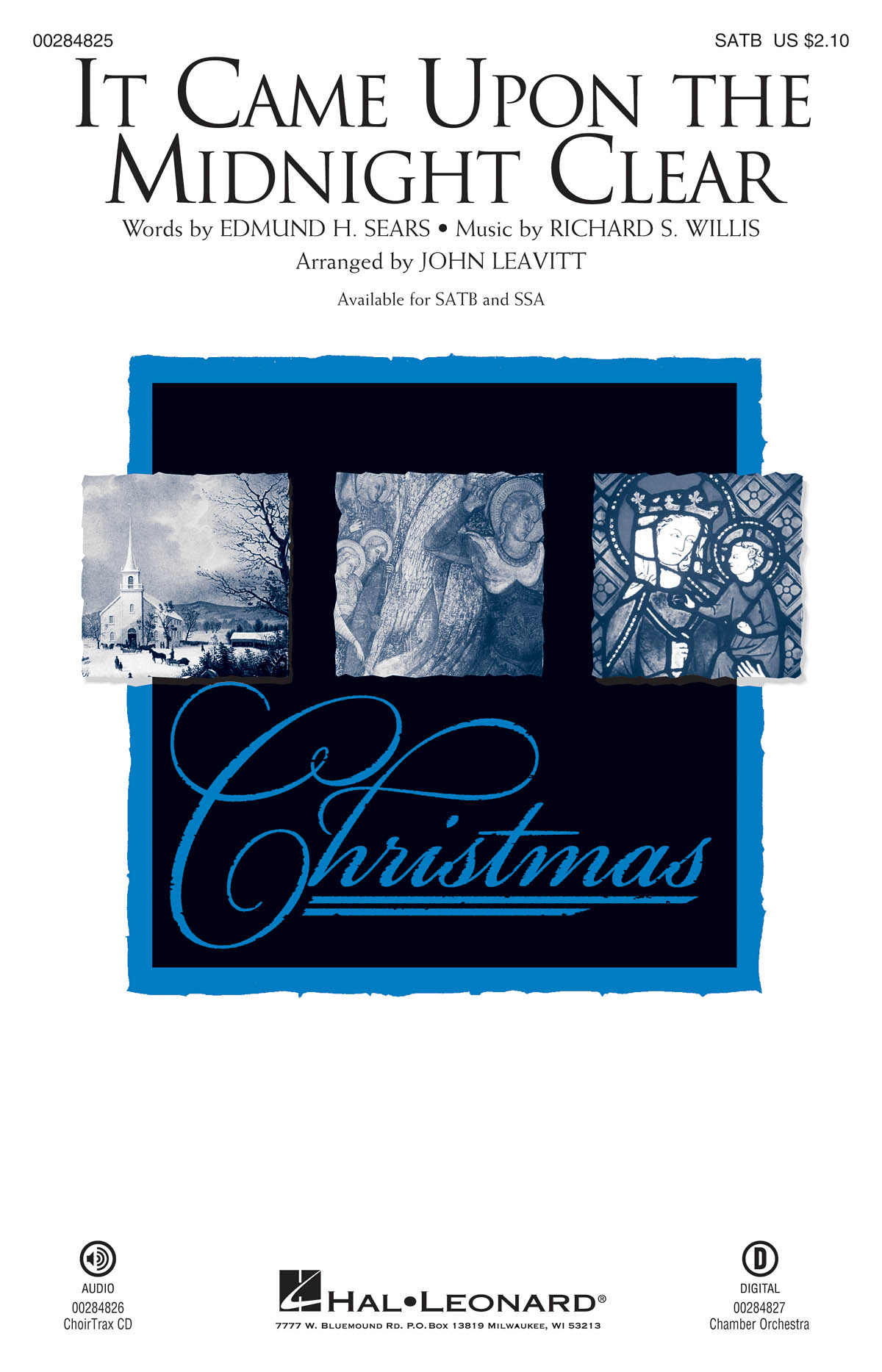 Richard Willis: It Came Upon the Midnight Clear: Mixed Choir a Cappella: Vocal