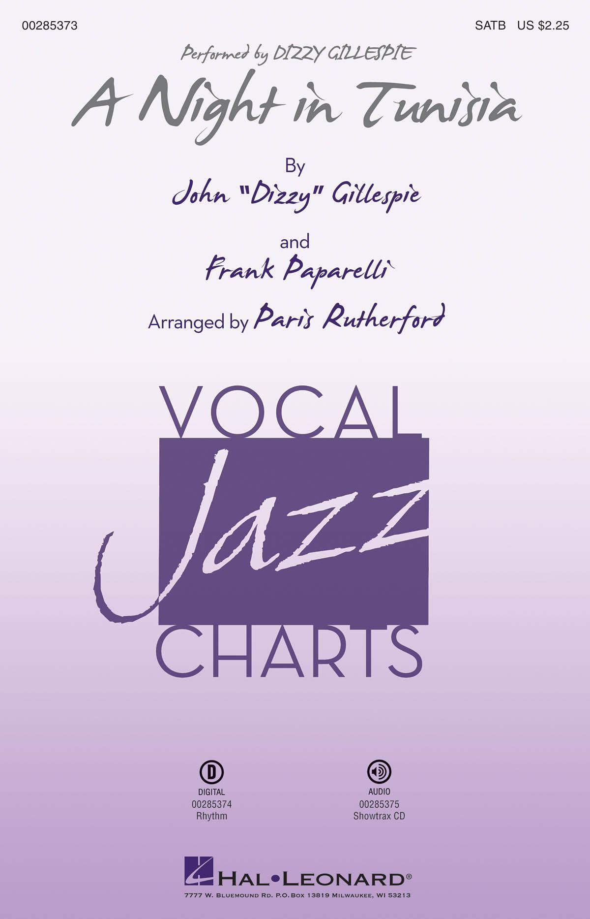 Dizzy Gillespie Frank Paparelli: A Night in Tunisia: Mixed Choir a Cappella:
