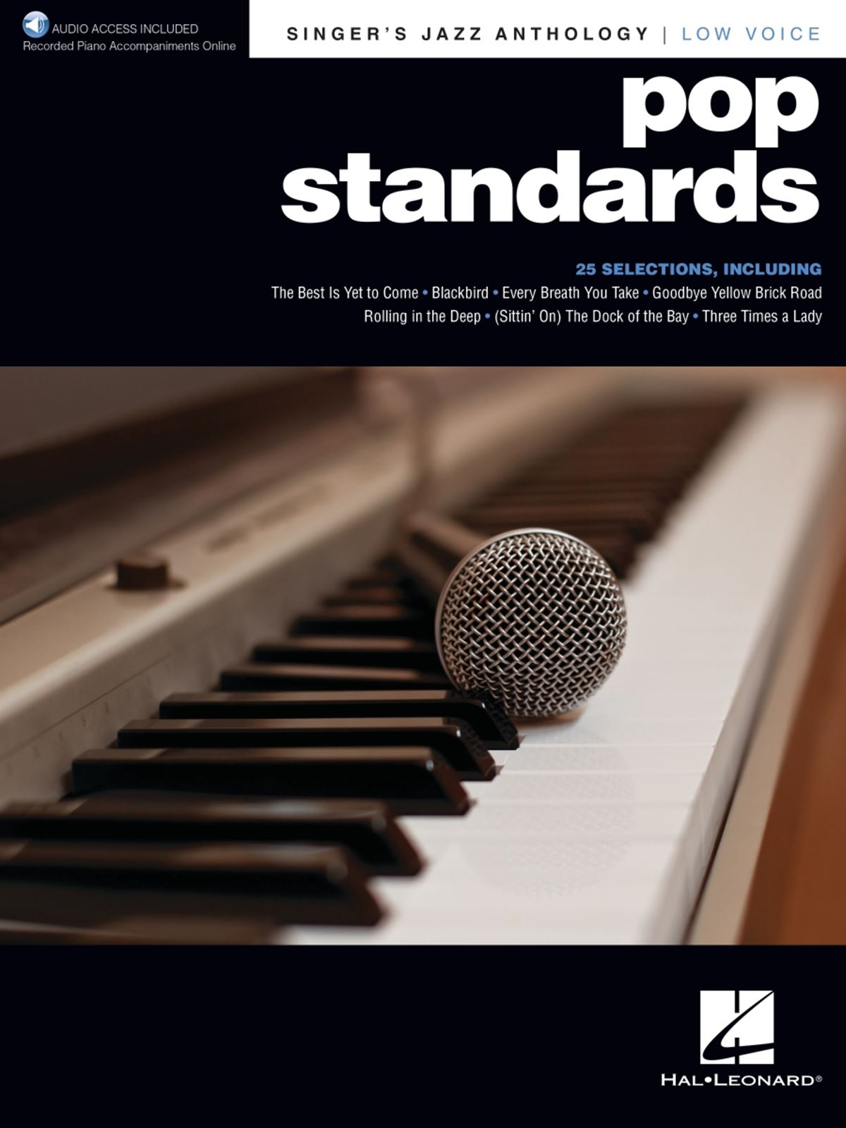 Pop Standards - Singer's Jazz Anthology Low Voice: Vocal Solo: Mixed Songbook