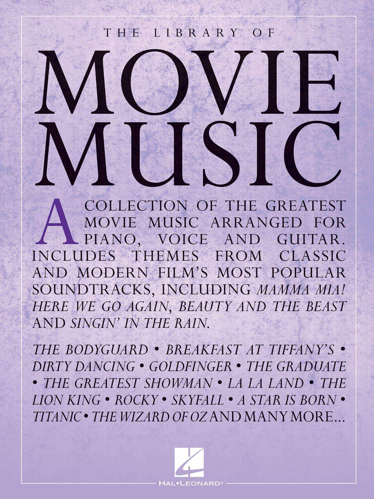 Library of Movie Music: Piano  Vocal and Guitar: Instrumental Album