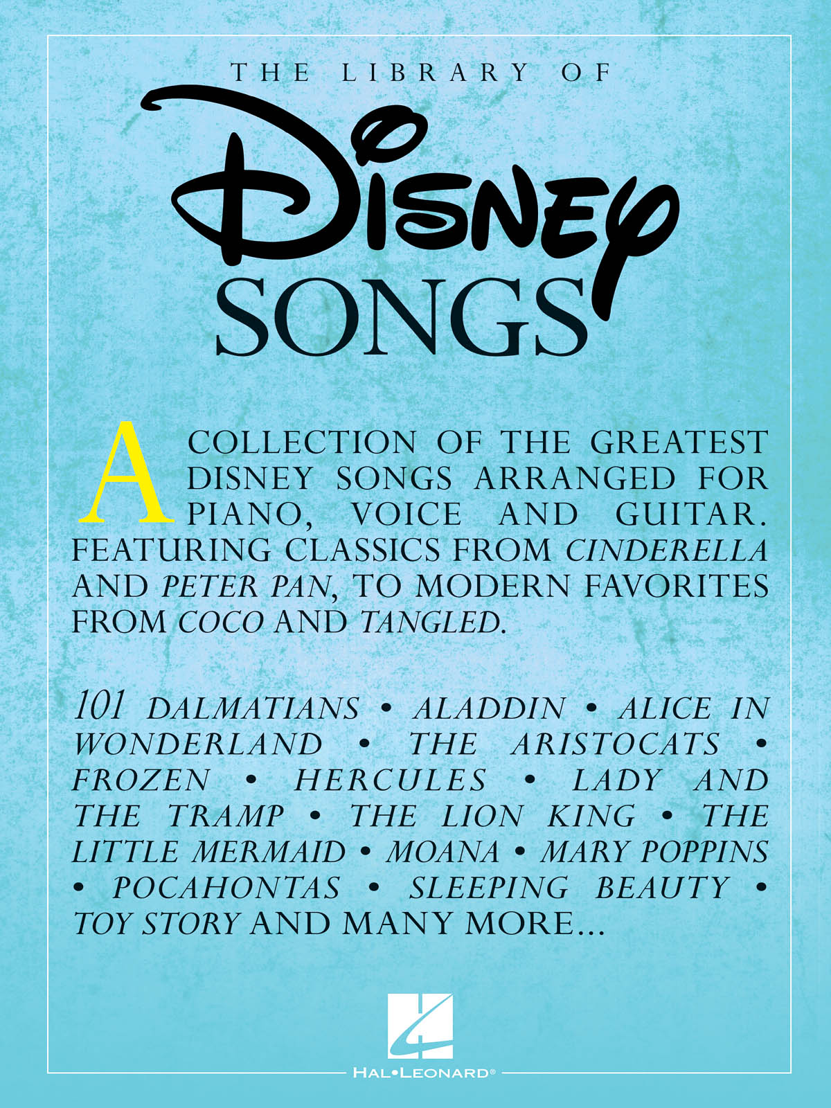 The Library of Disney Songs: Piano  Vocal and Guitar: Vocal Collection
