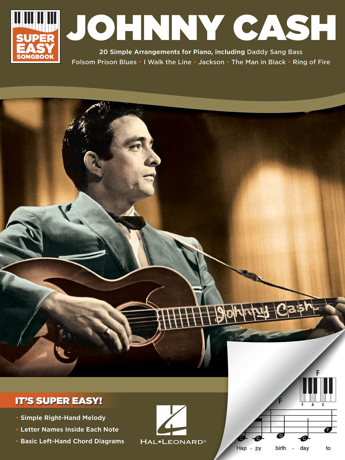 Johnny Cash: Johnny Cash - Super Easy Songbook: Piano: Artist Songbook