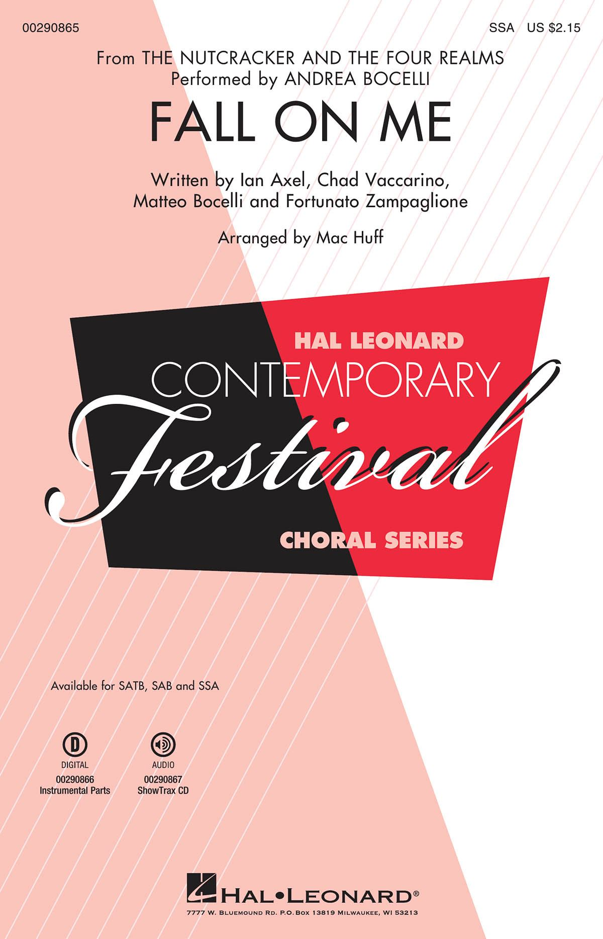 Andrea Bocelli: Fall on Me: Upper Voices a Cappella: Vocal Score