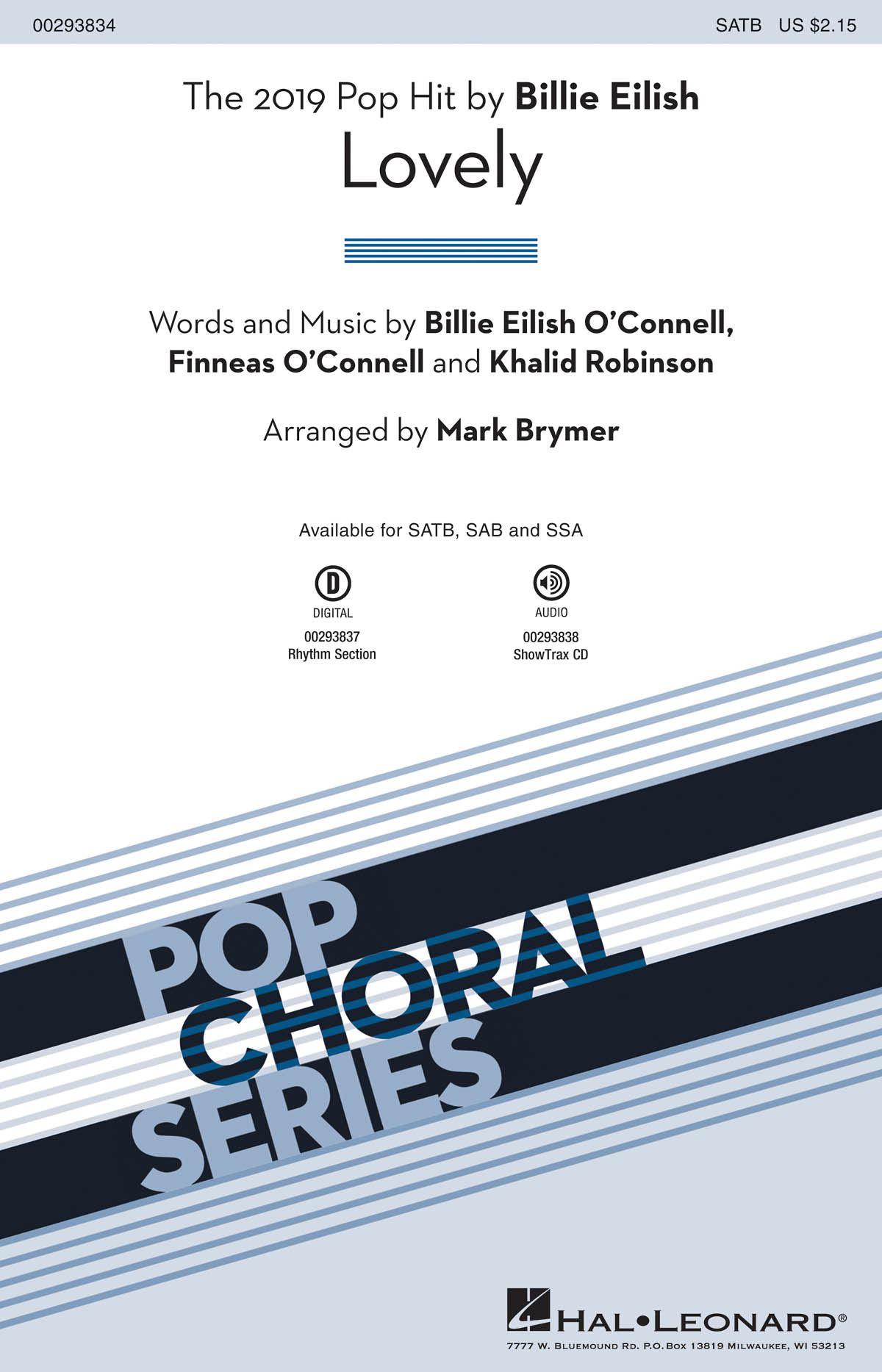 Billie Eilish: Lovely: Mixed Choir a Cappella: Vocal Score