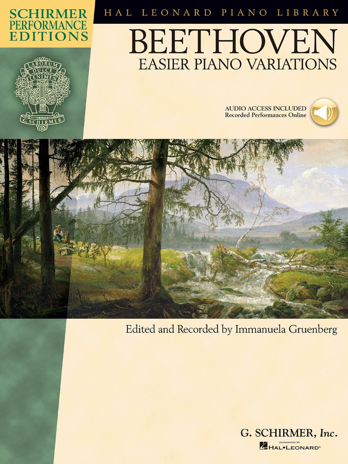 Ludwig van Beethoven: Ludwig van Beethoven - Easier Piano Variations: Piano: