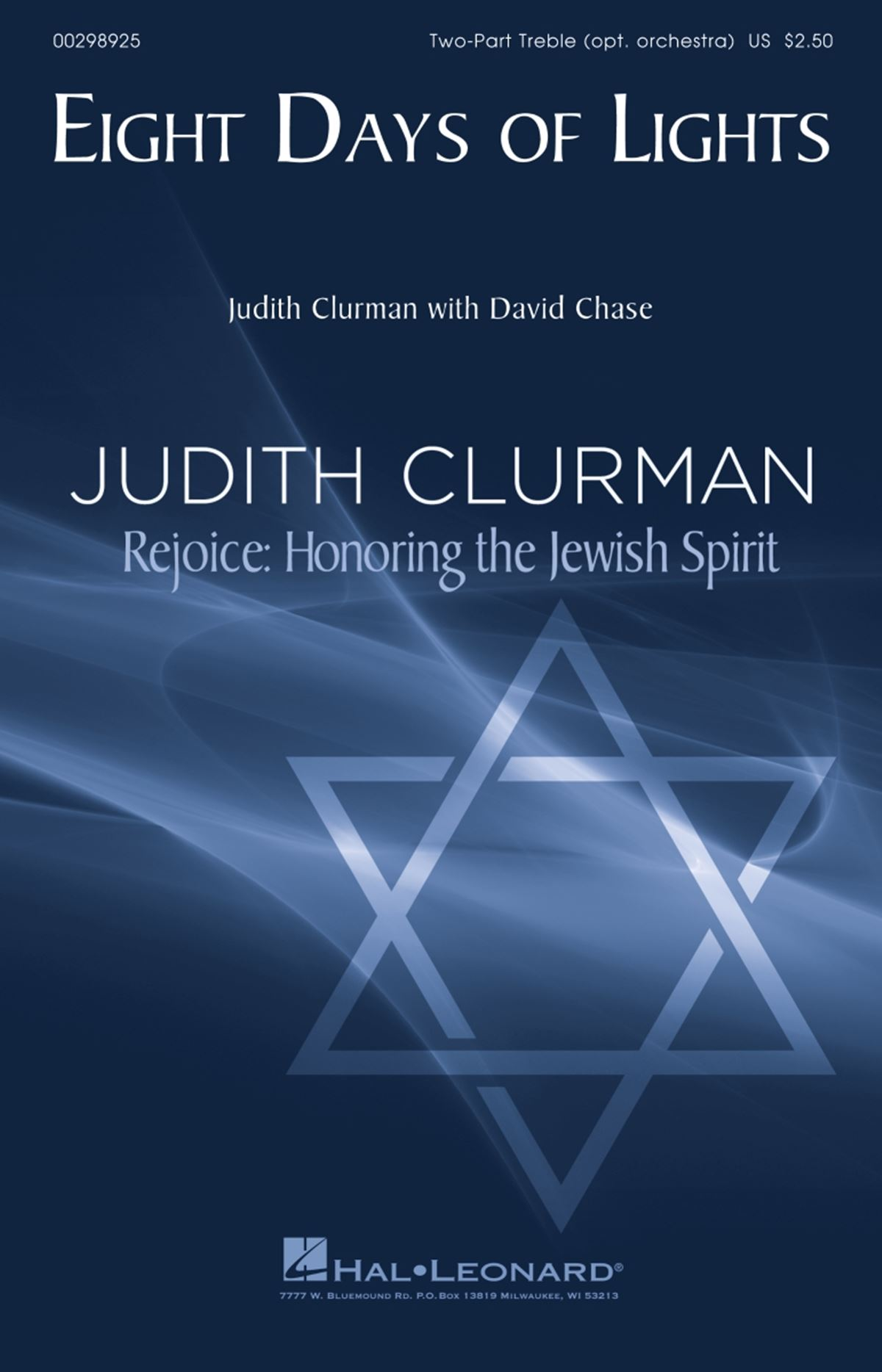 David Chase Judith Clurman: Eight Days of Lights: Upper Voices a Cappella: Vocal