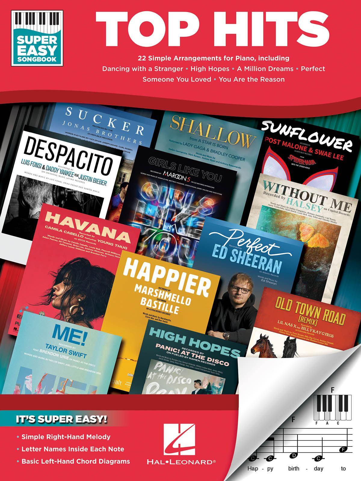 Top Hits - Super Easy Songbook: Piano Solo: Instrumental Album