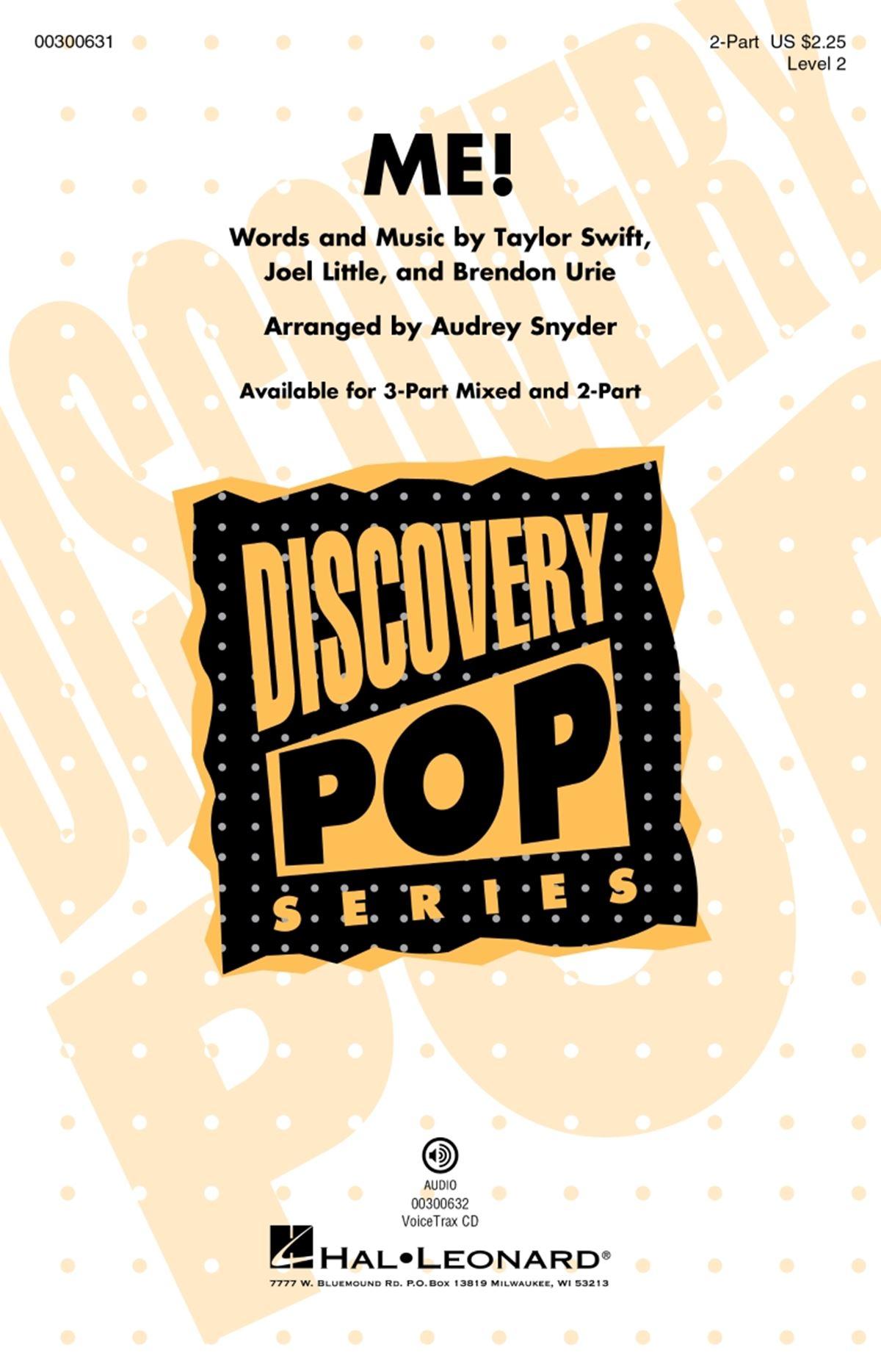 Brendon Urie Joel Little Taylor Swift: ME!: Mixed Choir a Cappella: Vocal Score