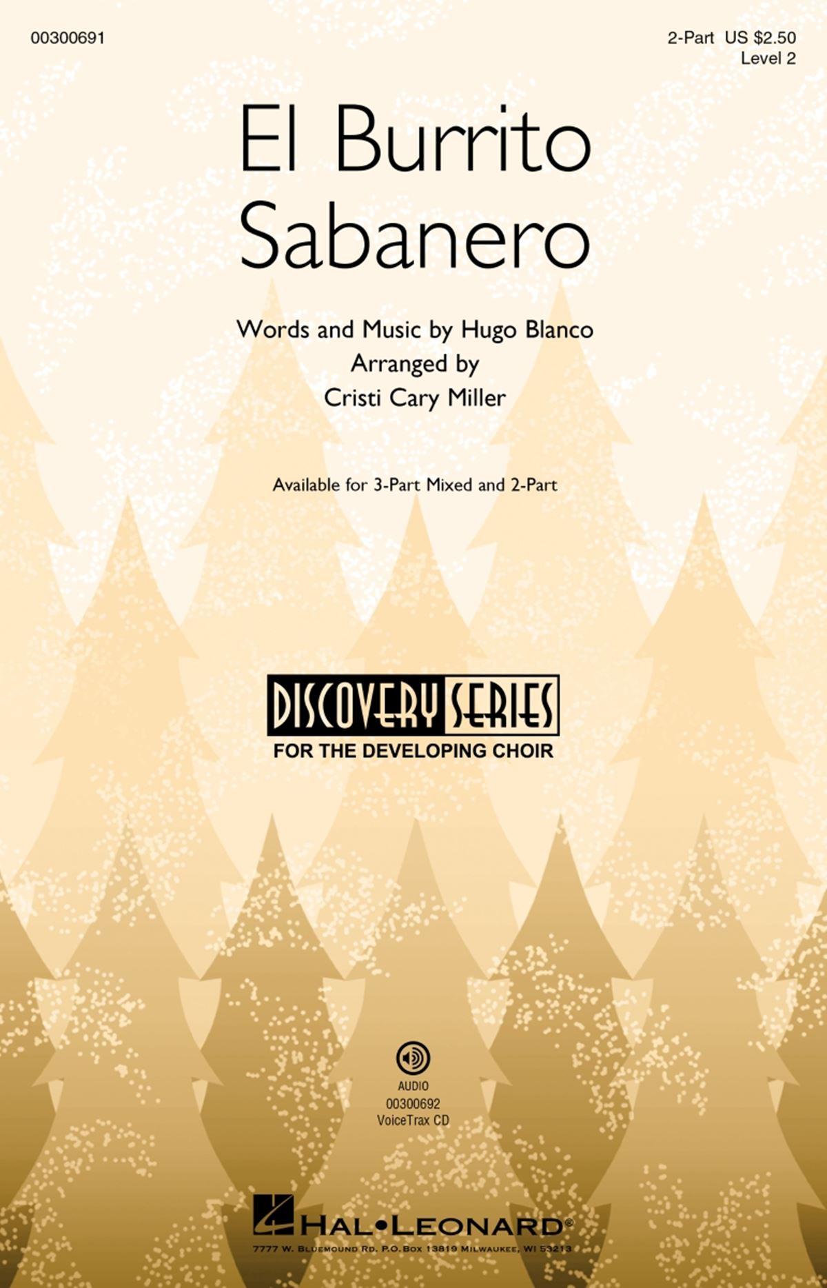 Hugo Blanco: El Burrito Sabanero: Mixed Choir a Cappella: Vocal Score
